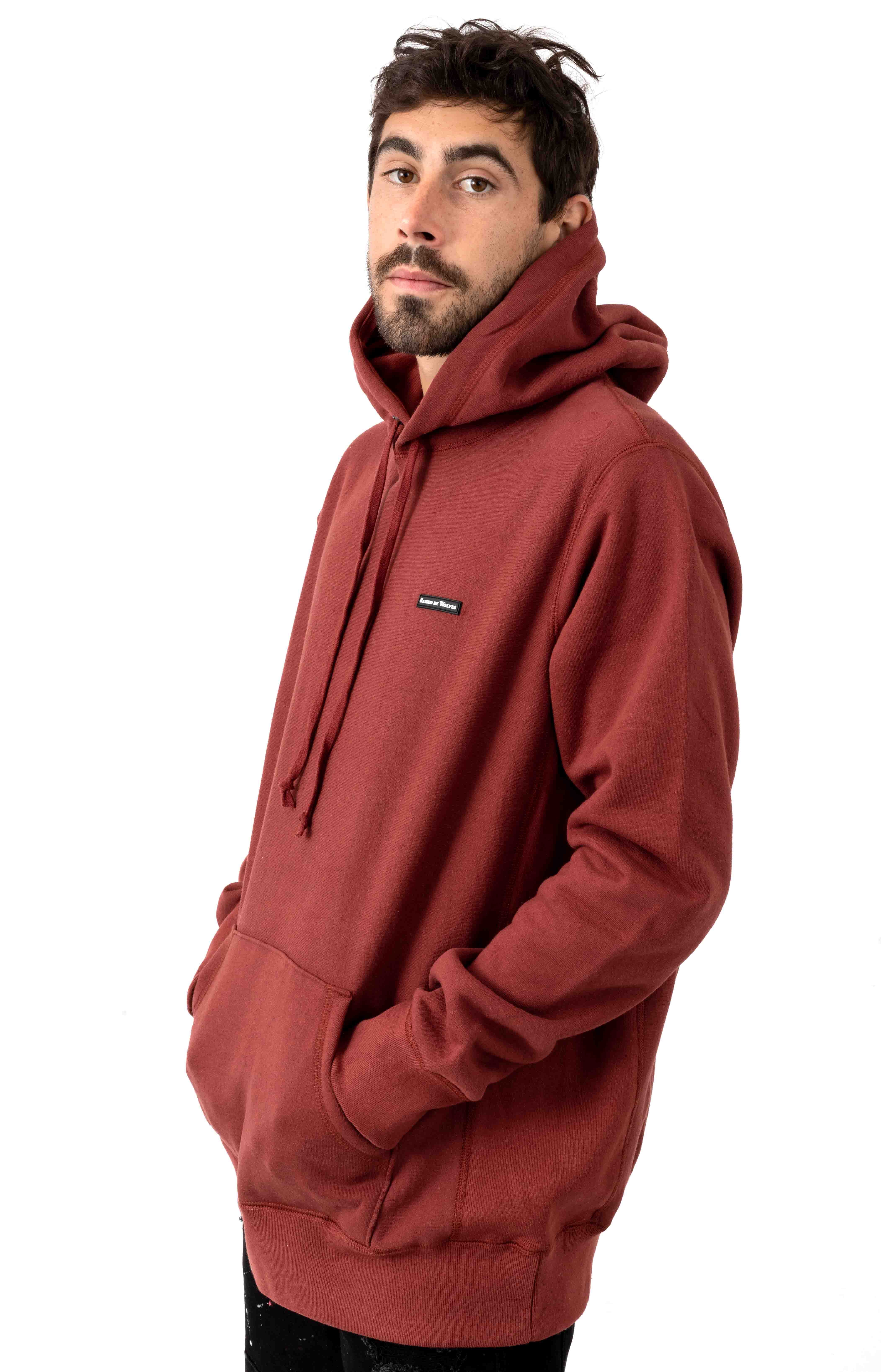PVC Logo Pullover Hoodie - Congo Red 2