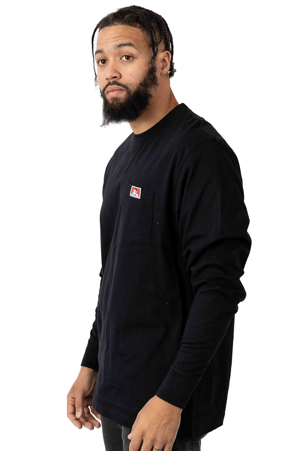 Heavy Duty L/S Pocket Shirt - Black  2