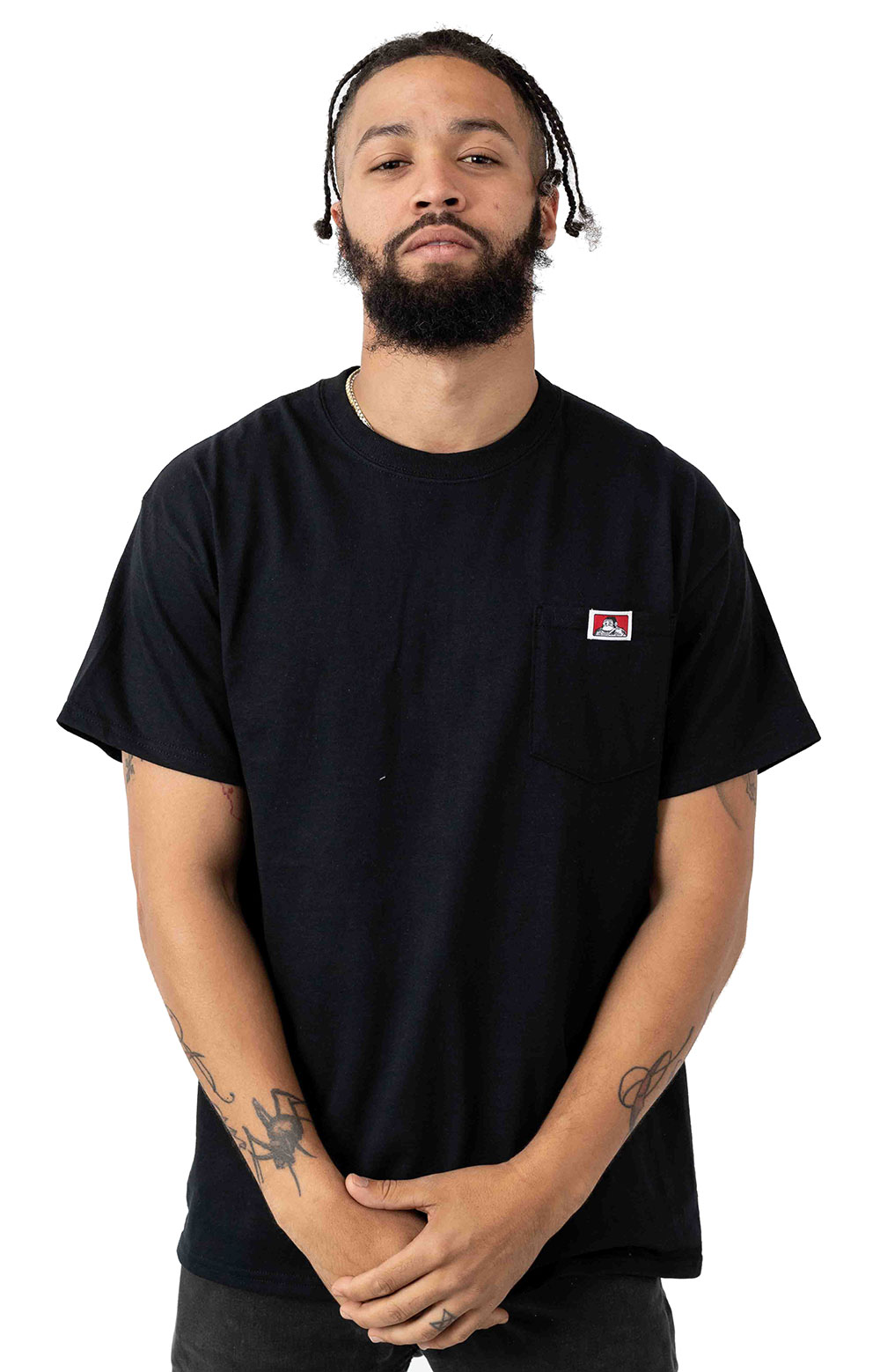 Classic Label Pocket T-Shirt - Black
