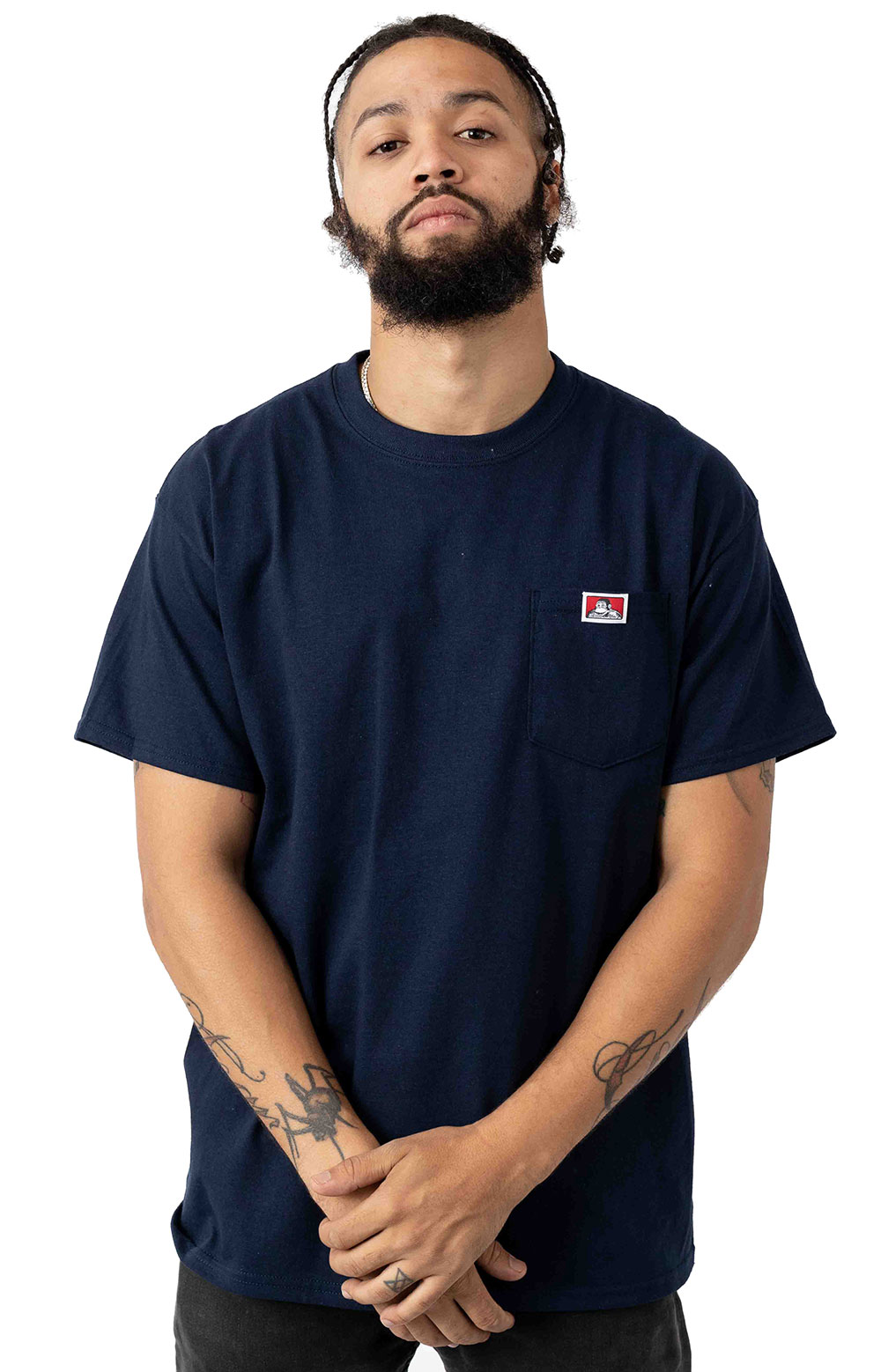 Classic Label Pocket T-Shirt - Navy