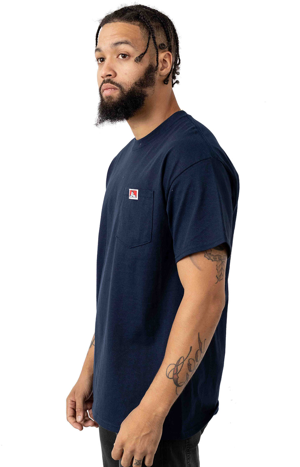 Classic Label Pocket T-Shirt - Navy 2