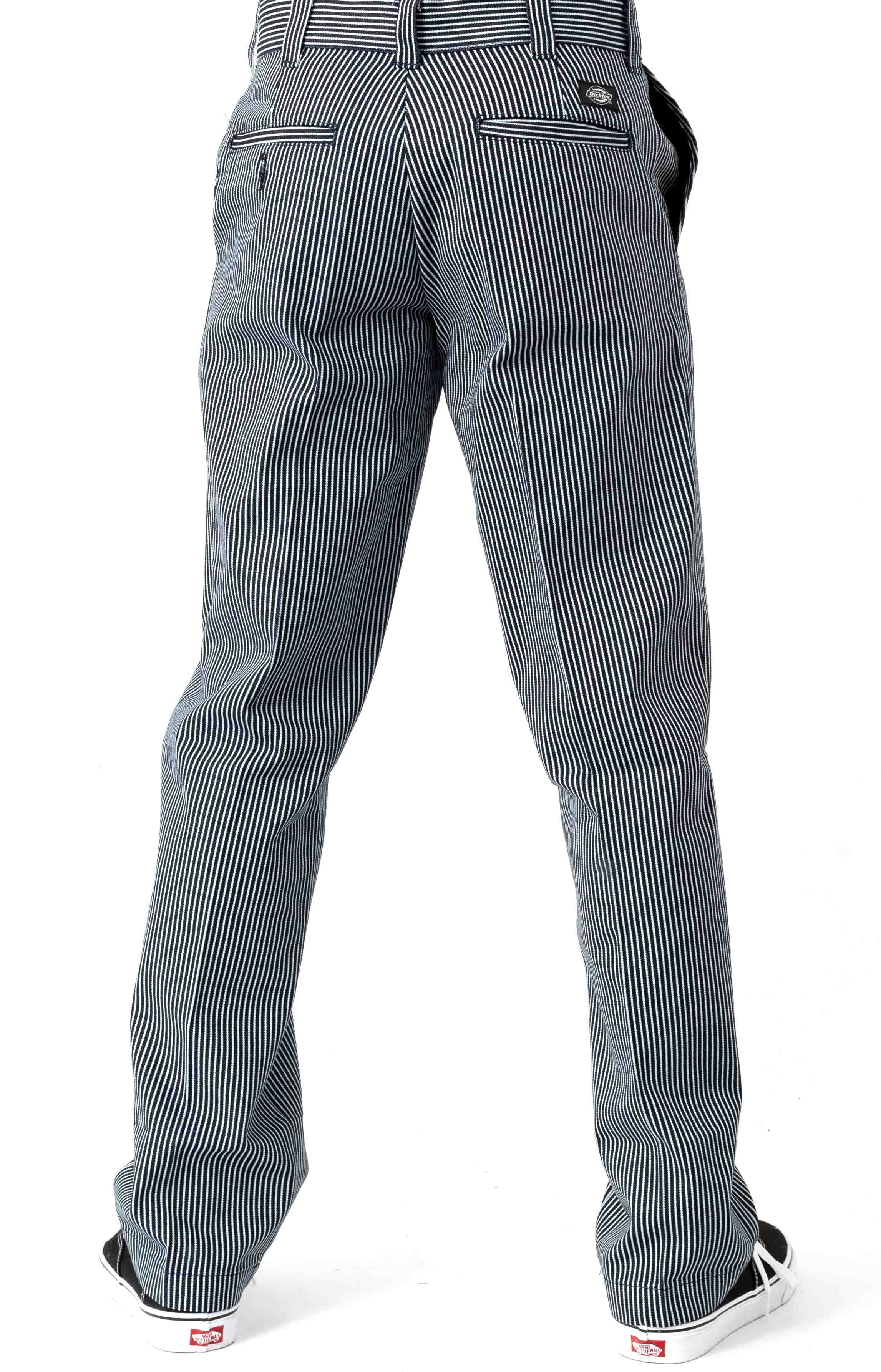 (WP894HHS) '67 Slim Fit Twill Hickory Stripe Pant - Blue White Hickory Stripe  3