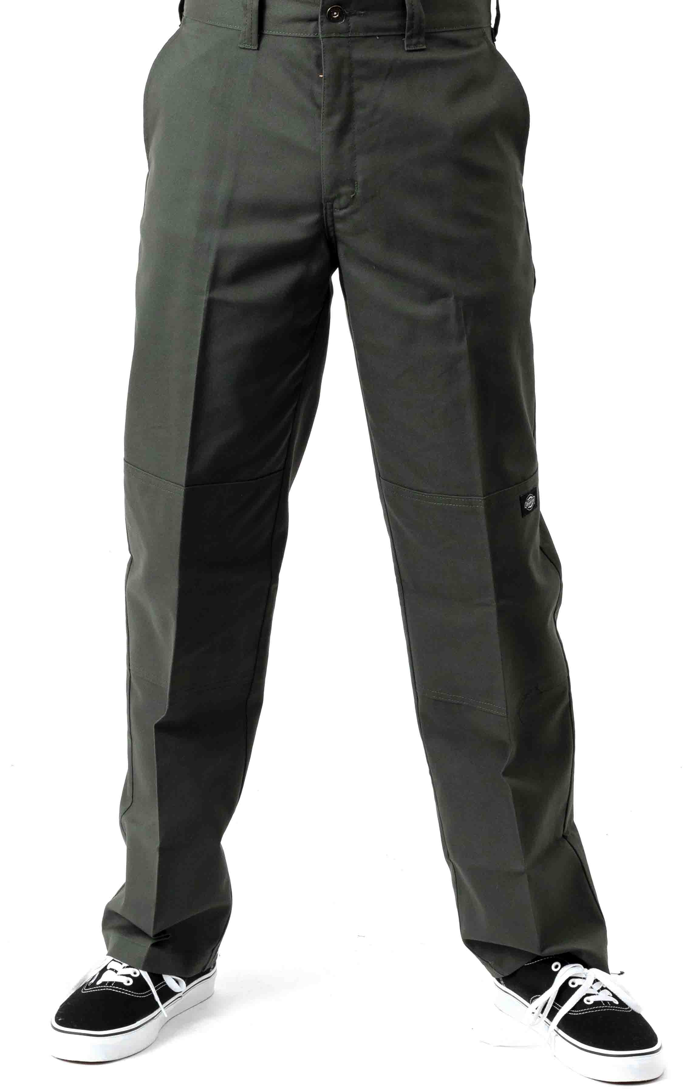 (WP896OG) '67 Regular Fit Double Knee Work Pants - Olive Green