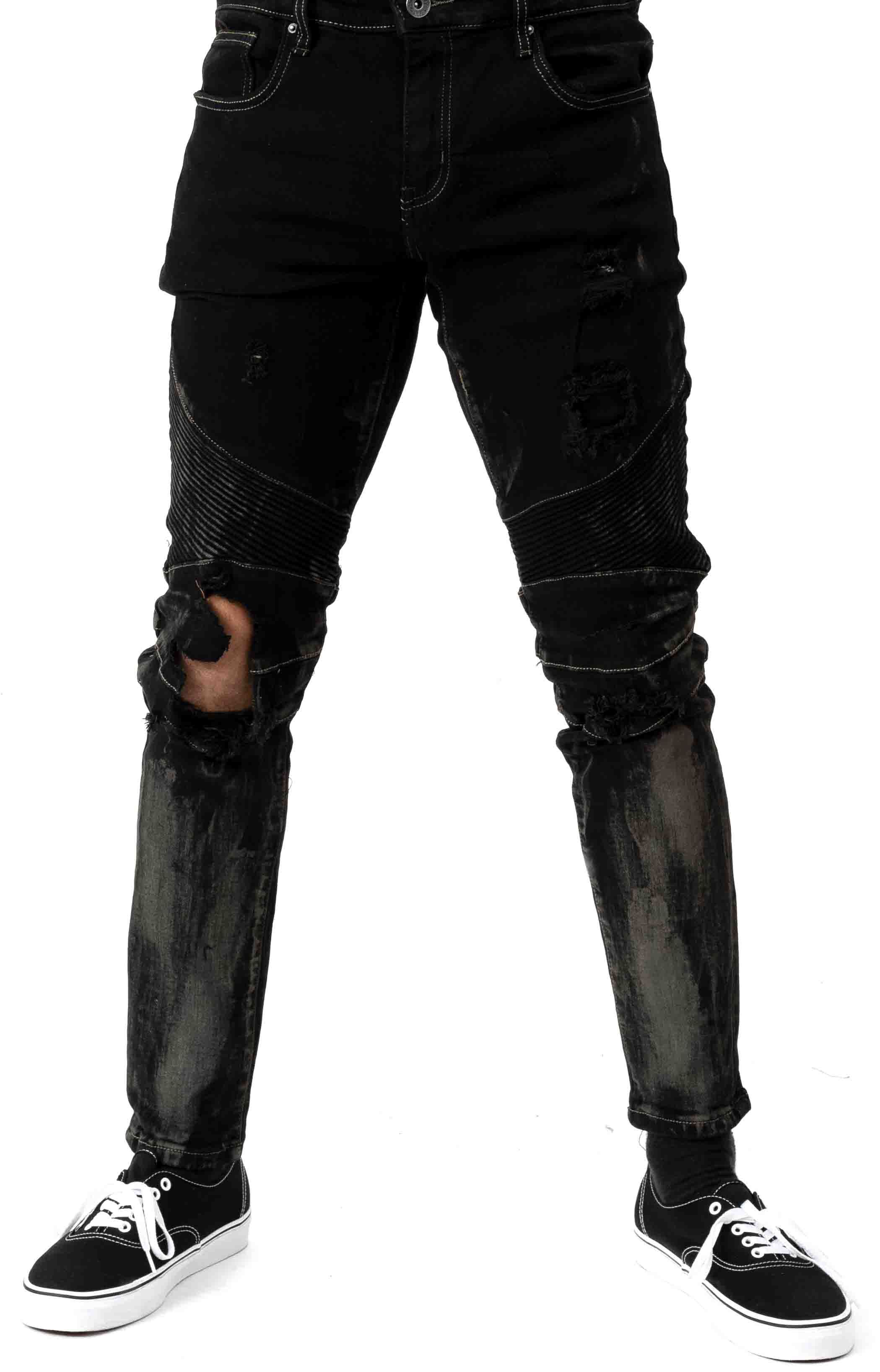 (CRYF119-119) Skywalker Denim Jeans - Dark Blue Rust