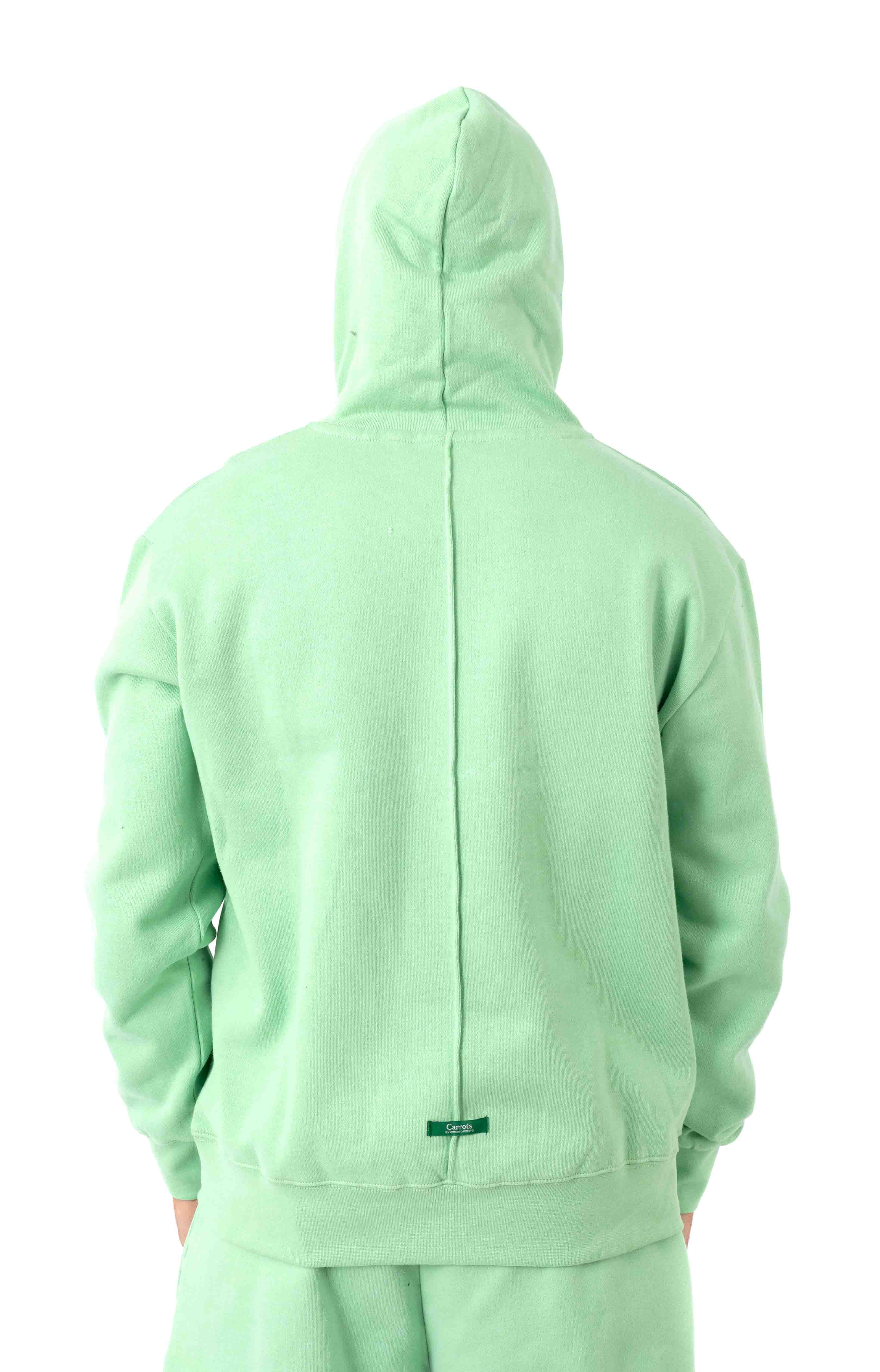 Signature Carrot Patch Pullover Hoodie - Sage Green  3