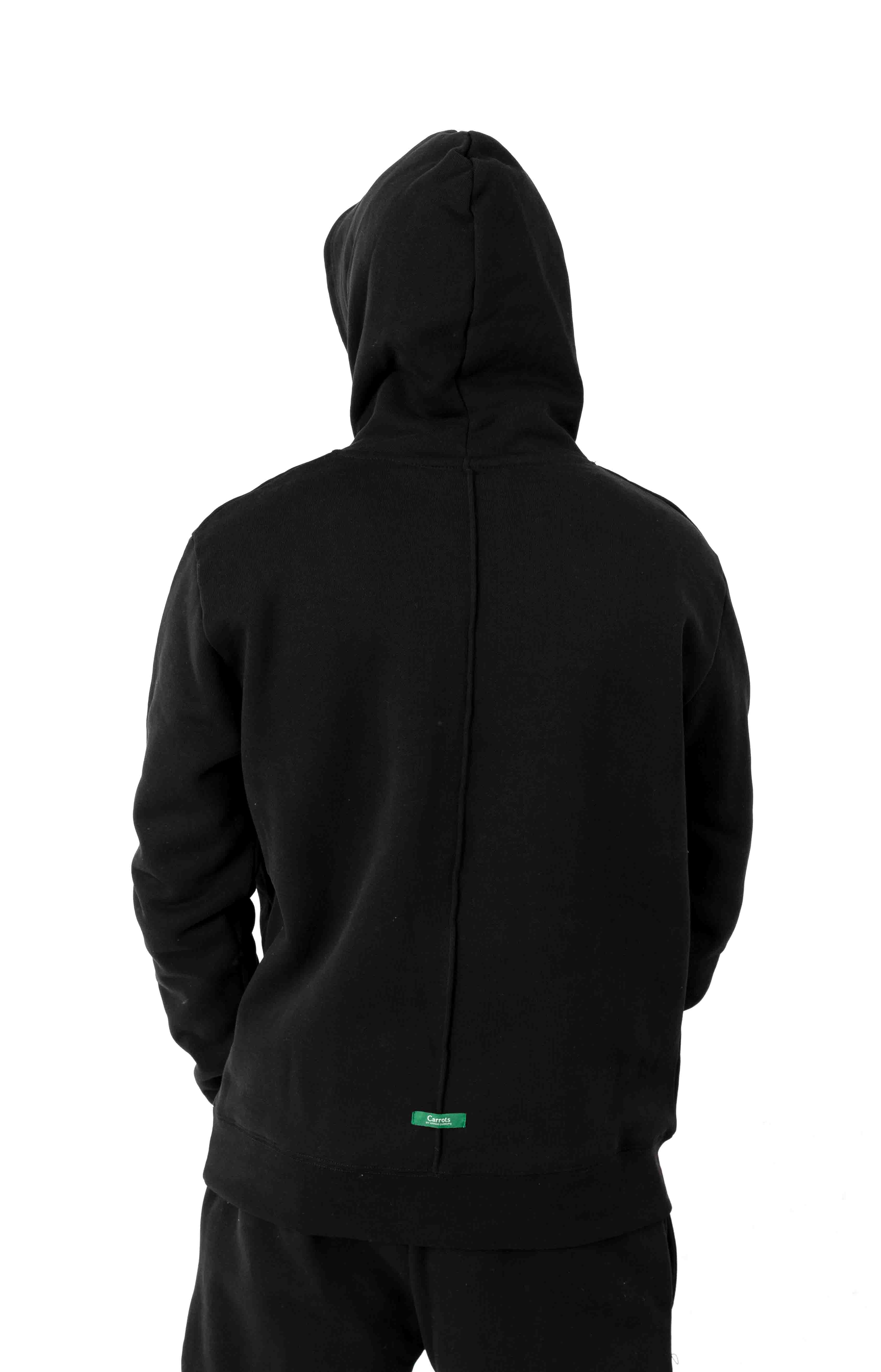 Signature Carrot Patch Pullover Hoodie - Black 3