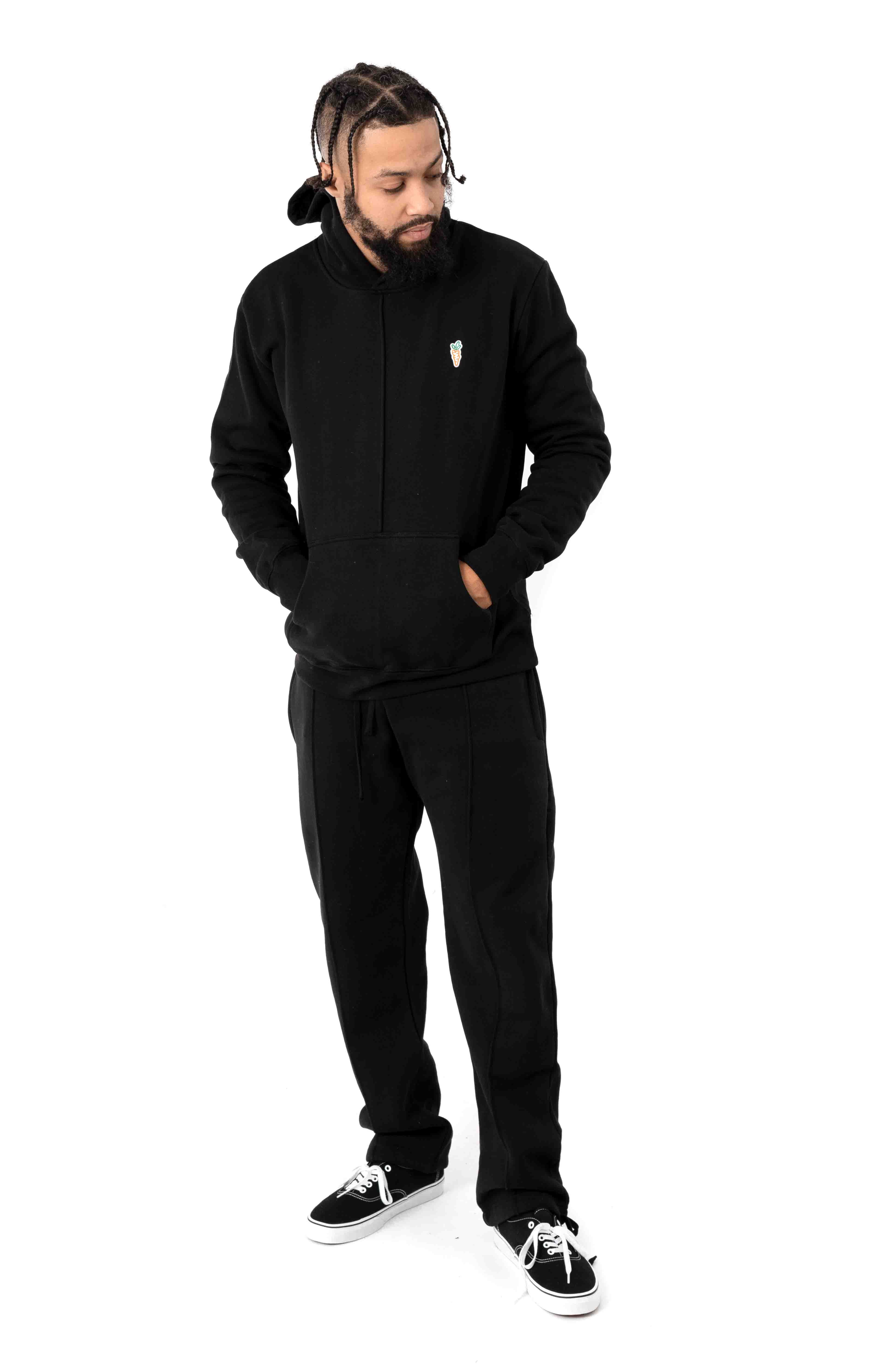 Signature Carrot Patch Pullover Hoodie - Black 4