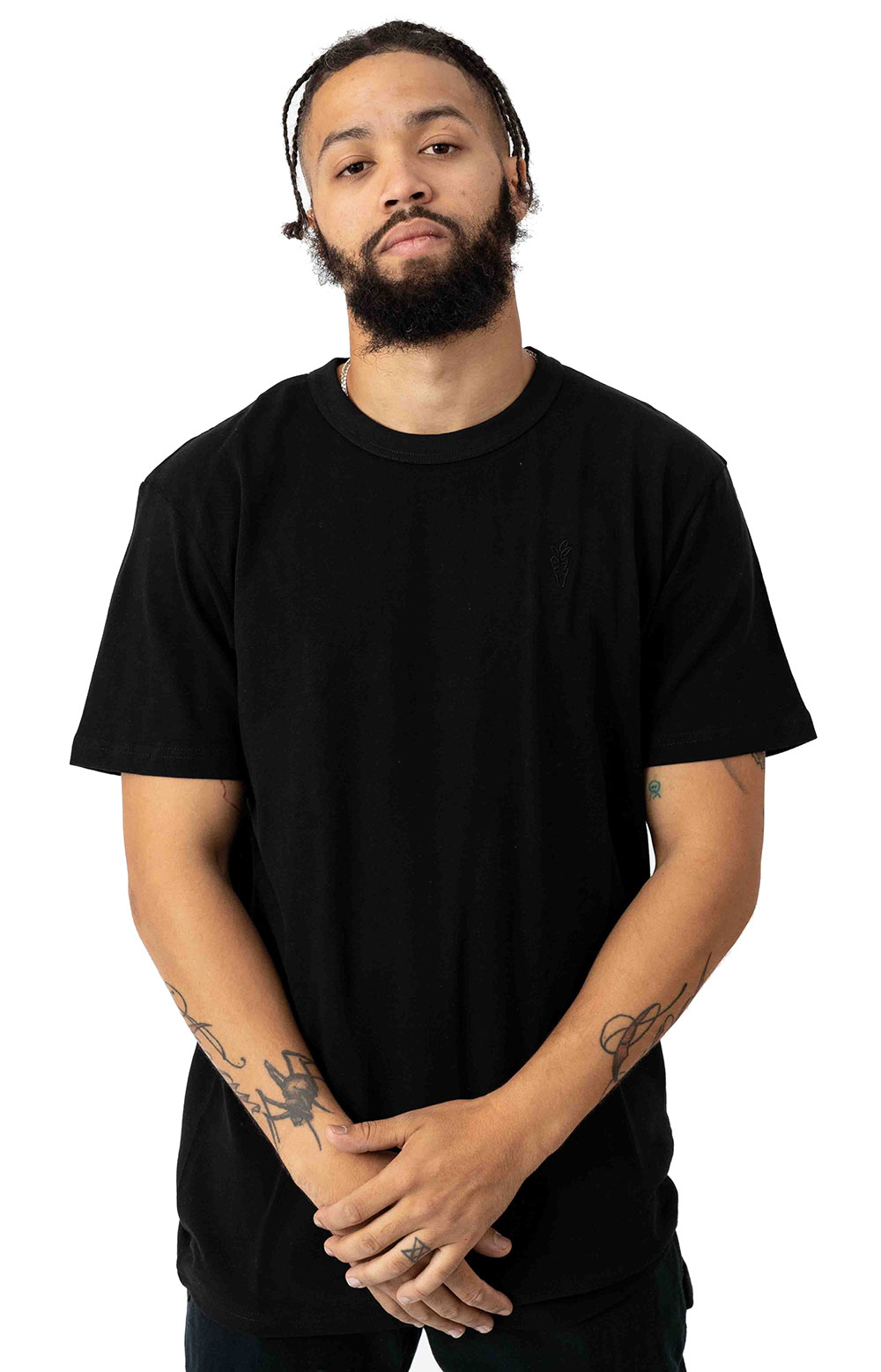 Carrots One Point Knit T-Shirt - Black