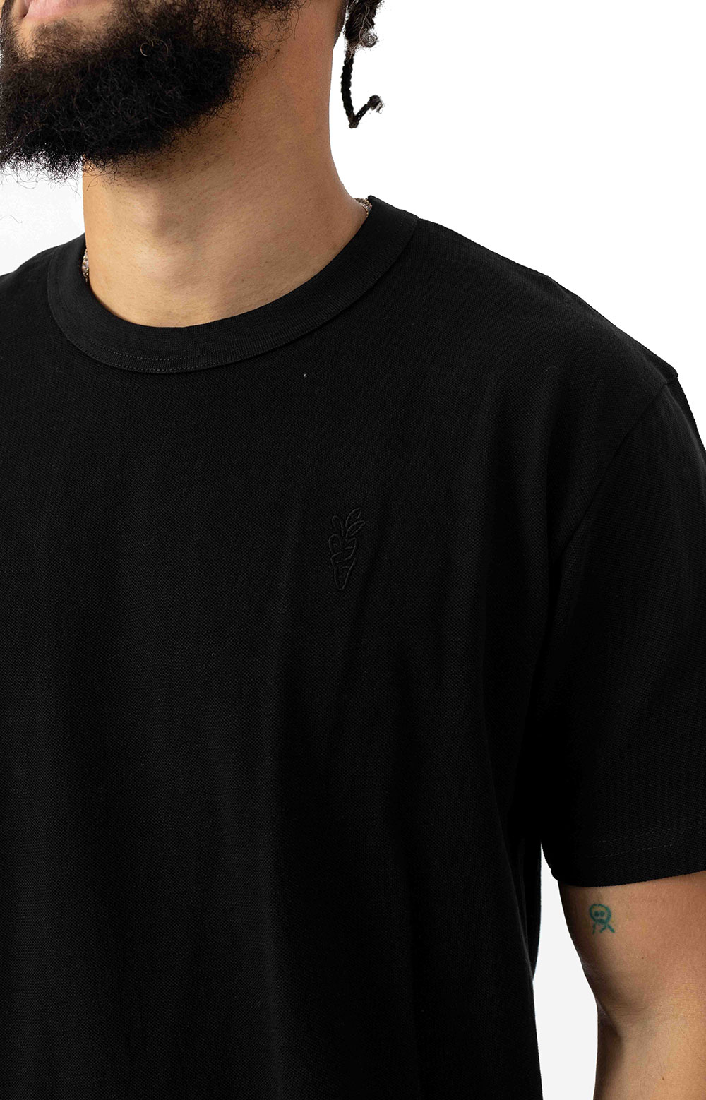 Carrots One Point Knit T-Shirt - Black 3