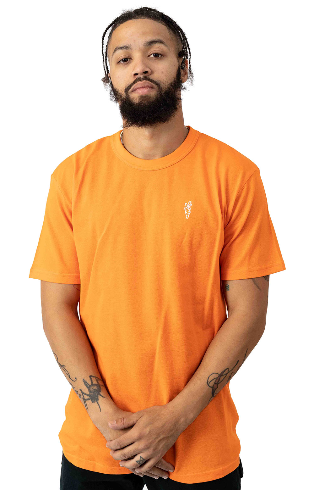Carrots One Point Knit T-Shirt - Orange