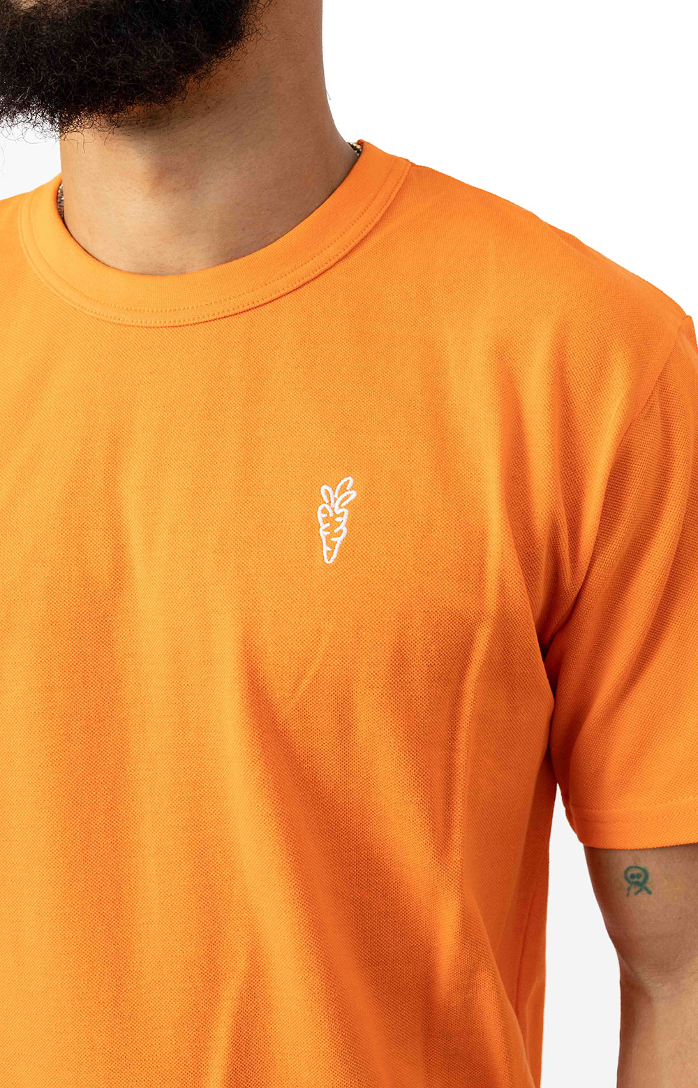 Carrots One Point Knit T-Shirt - Orange  3