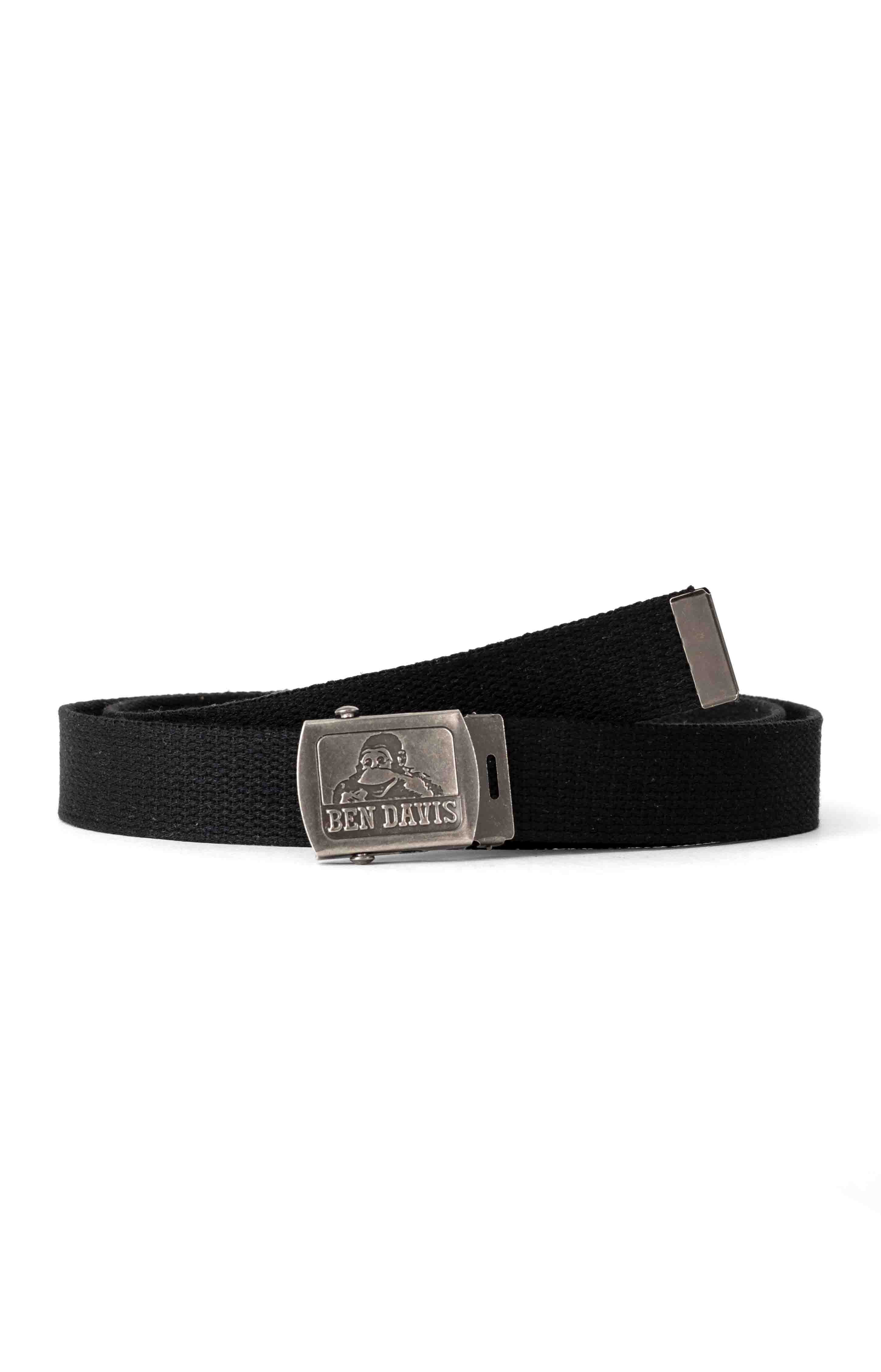 Cotton Webbing Belt -  Black