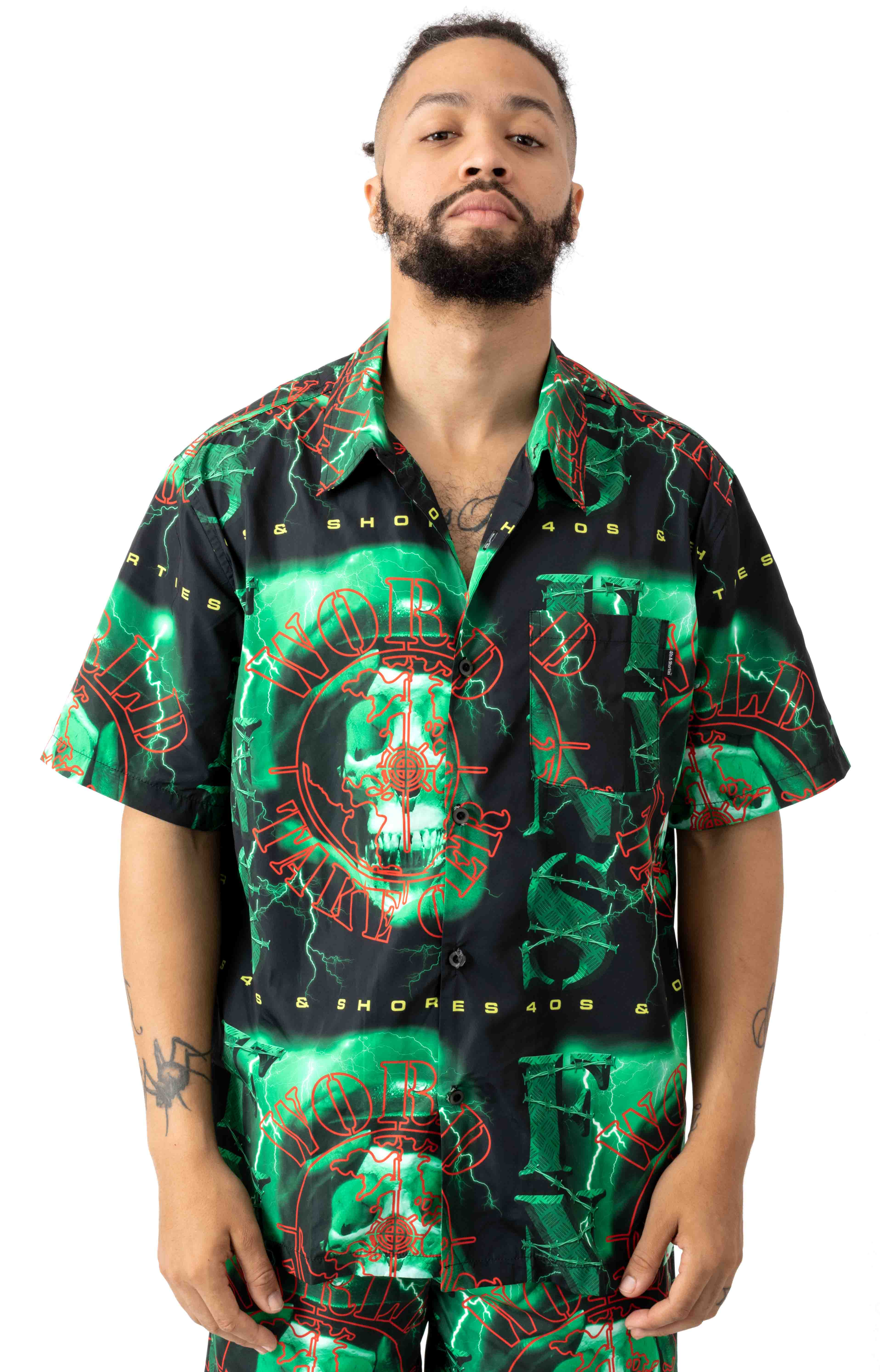 40sshorties 77304 Doomsday Button-Up Shirt