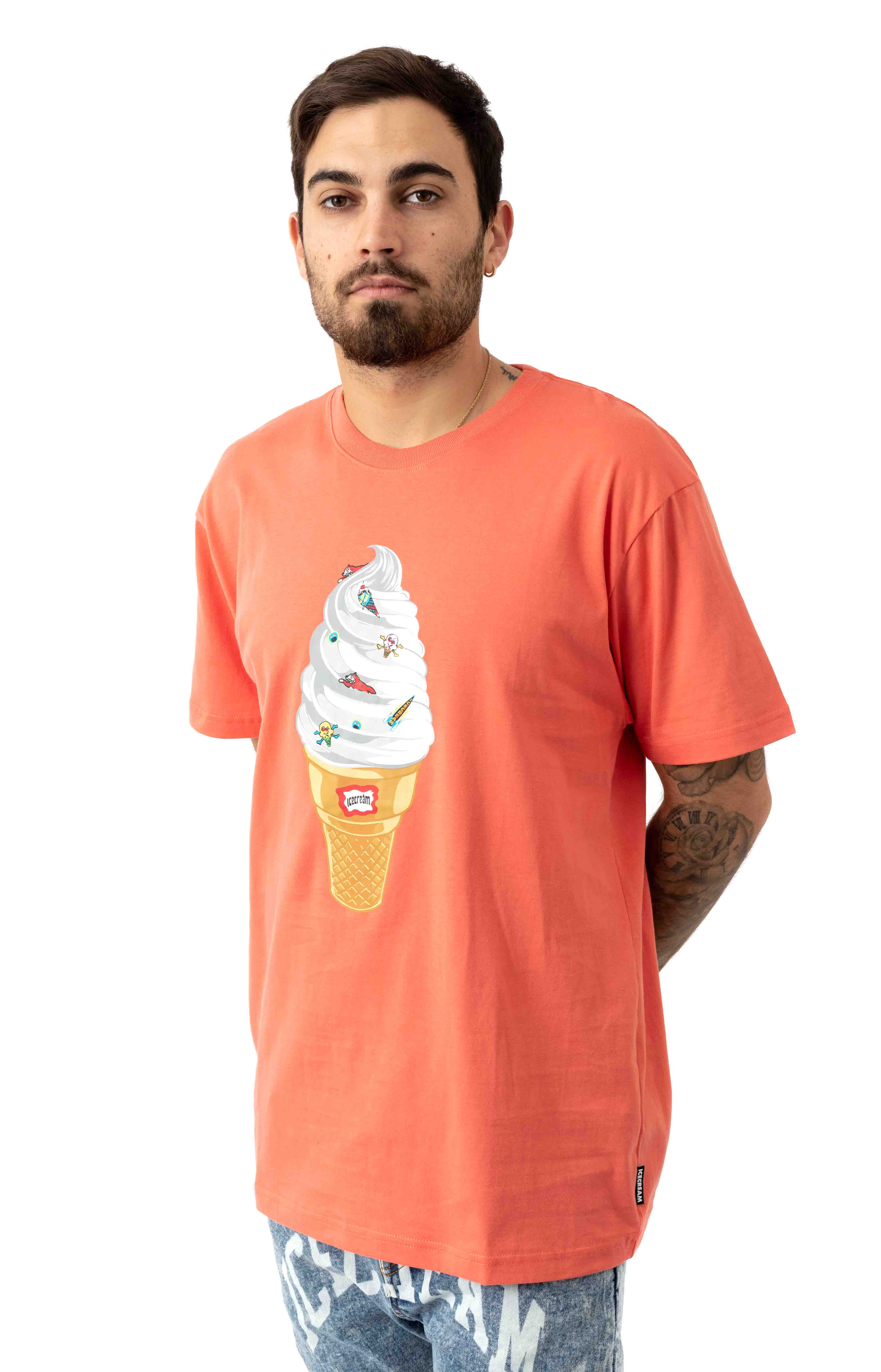 Vanilla Cone T-Shirt - Deep Sea Coral