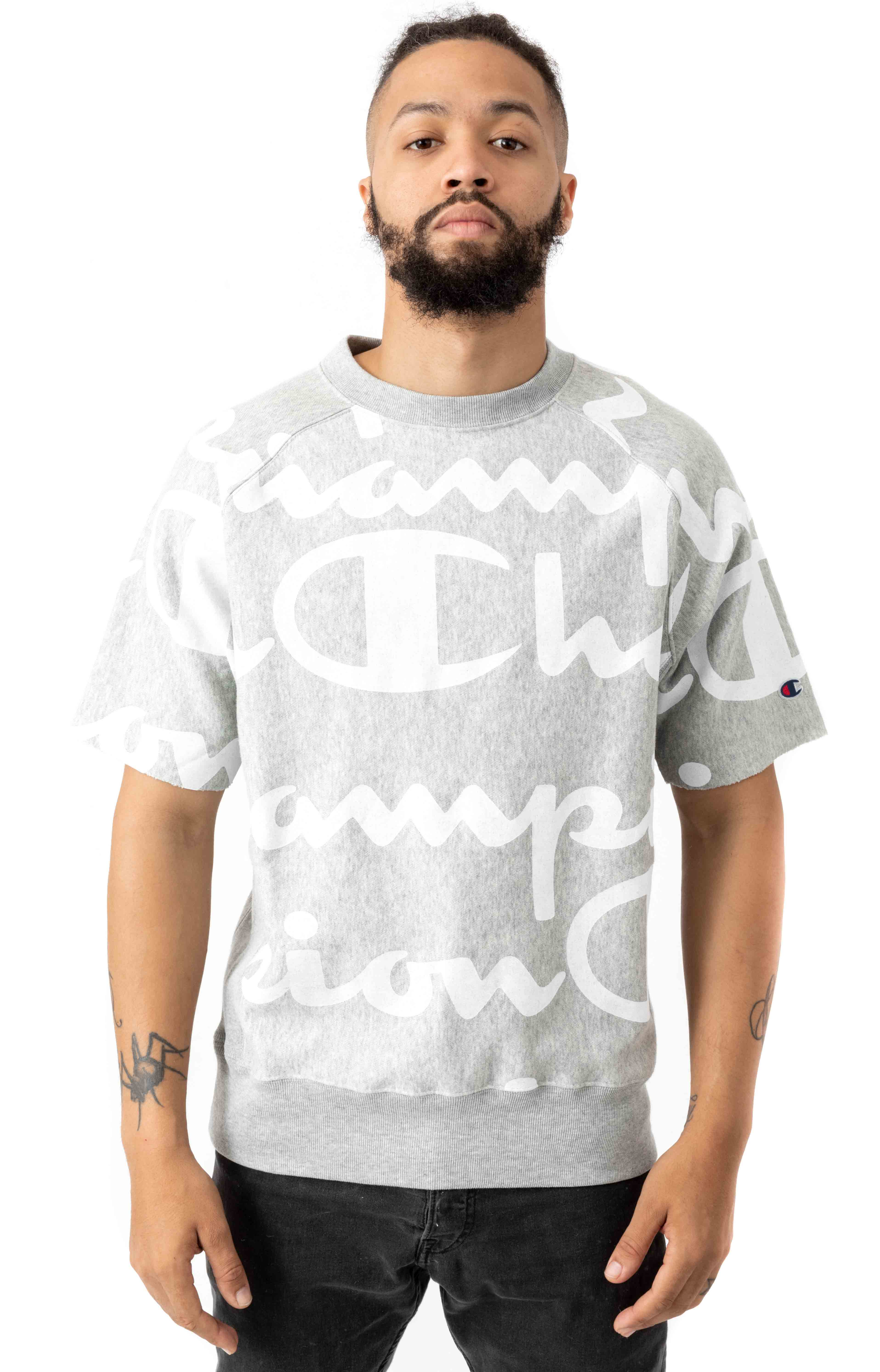 RW Giant AO Script S/S Crewneck - Oxford Grey