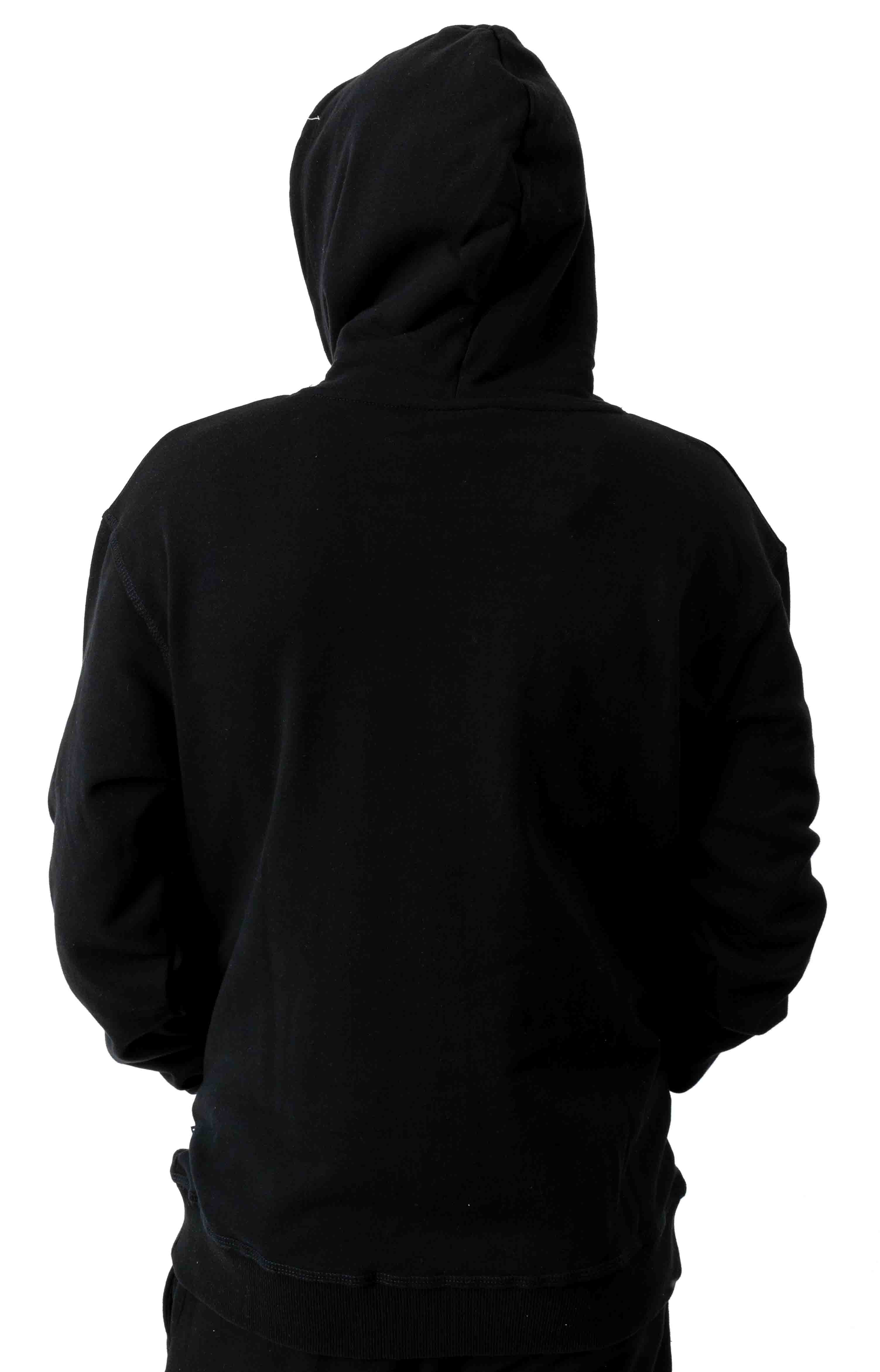 Chenille Pullover Hoodie - Black 3