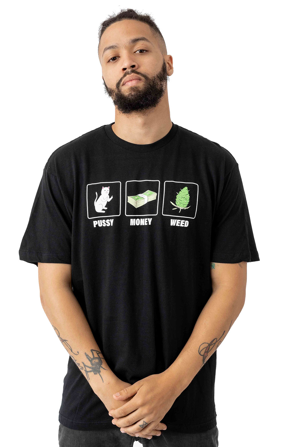 Pu$$y, Money, Weed T-Shirt - Black