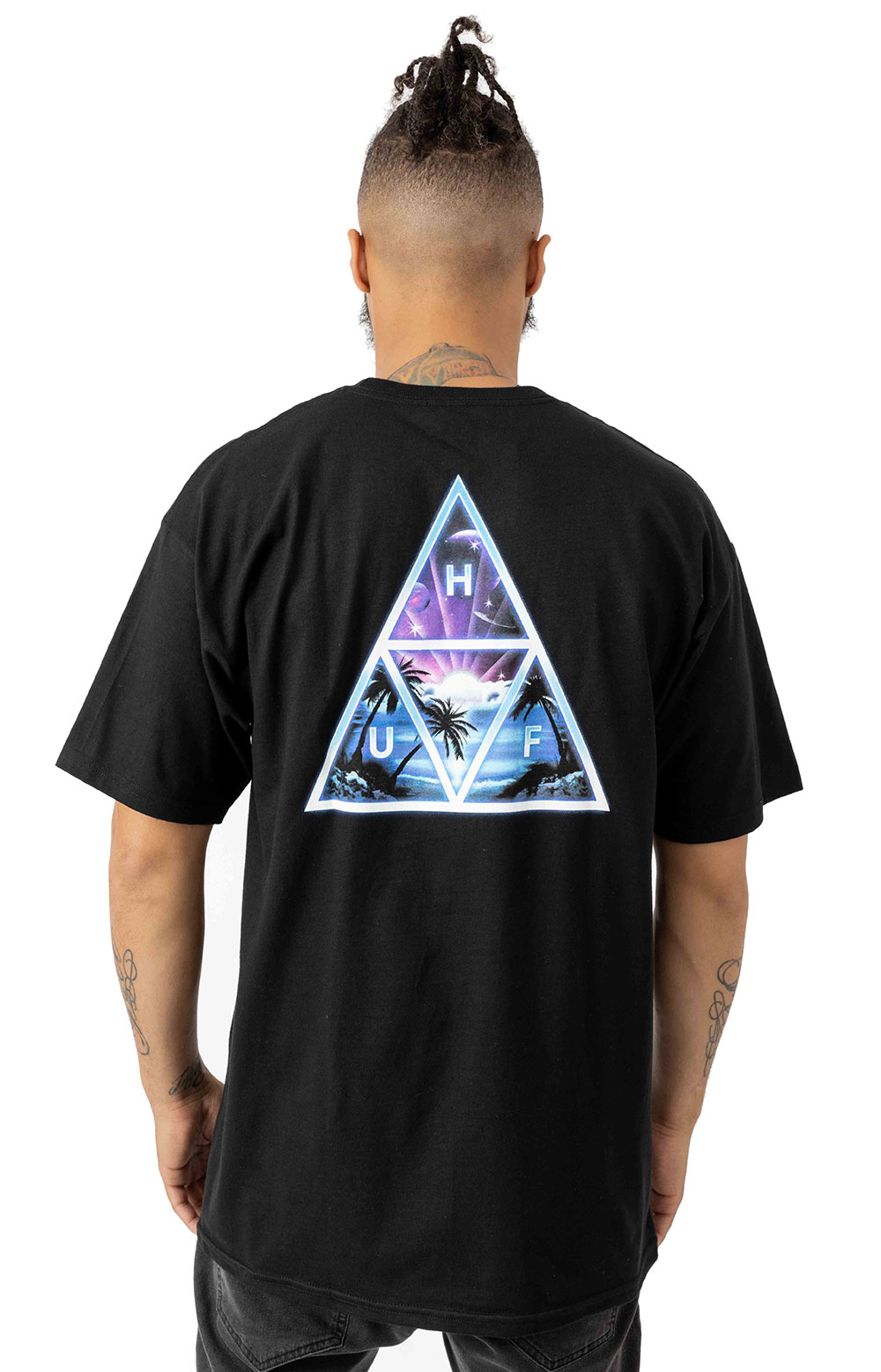 Huf 77317 Space Beach TT T-Shirt - Black