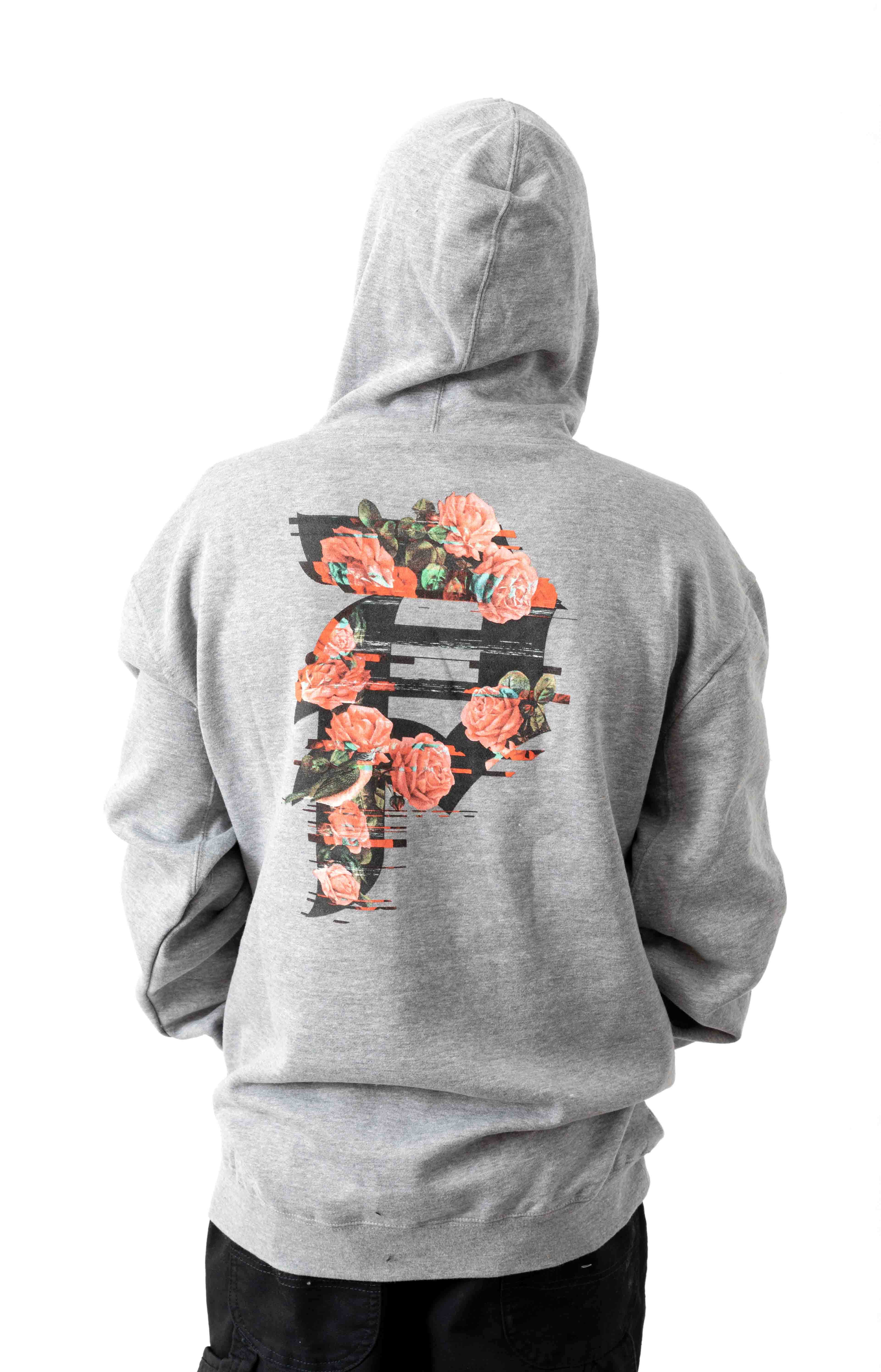 Dirty P Glitch Pullover Hoodie - Grey