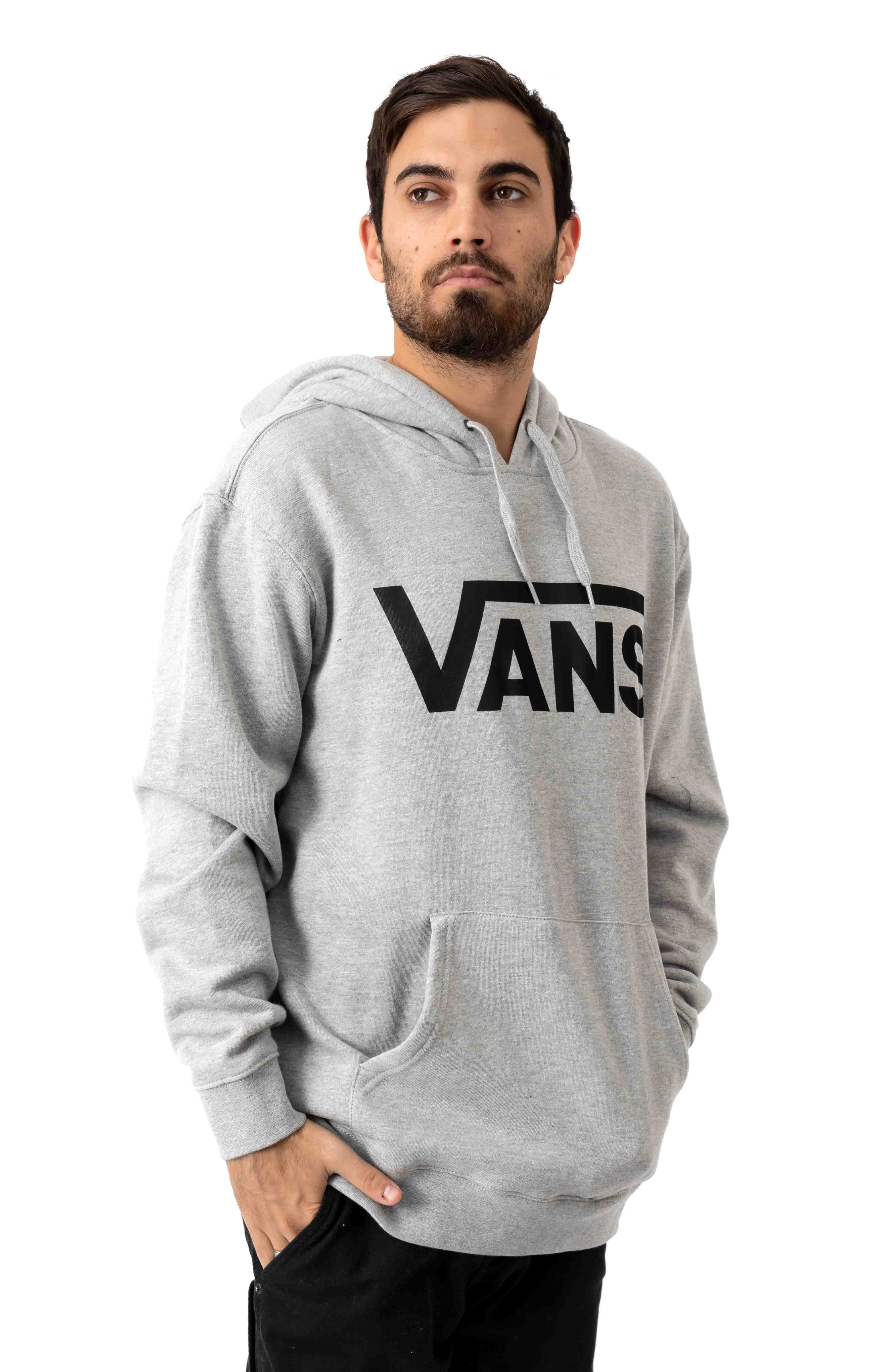 Vans Classic Pullover Hoodie - Cement Heather/Black 2