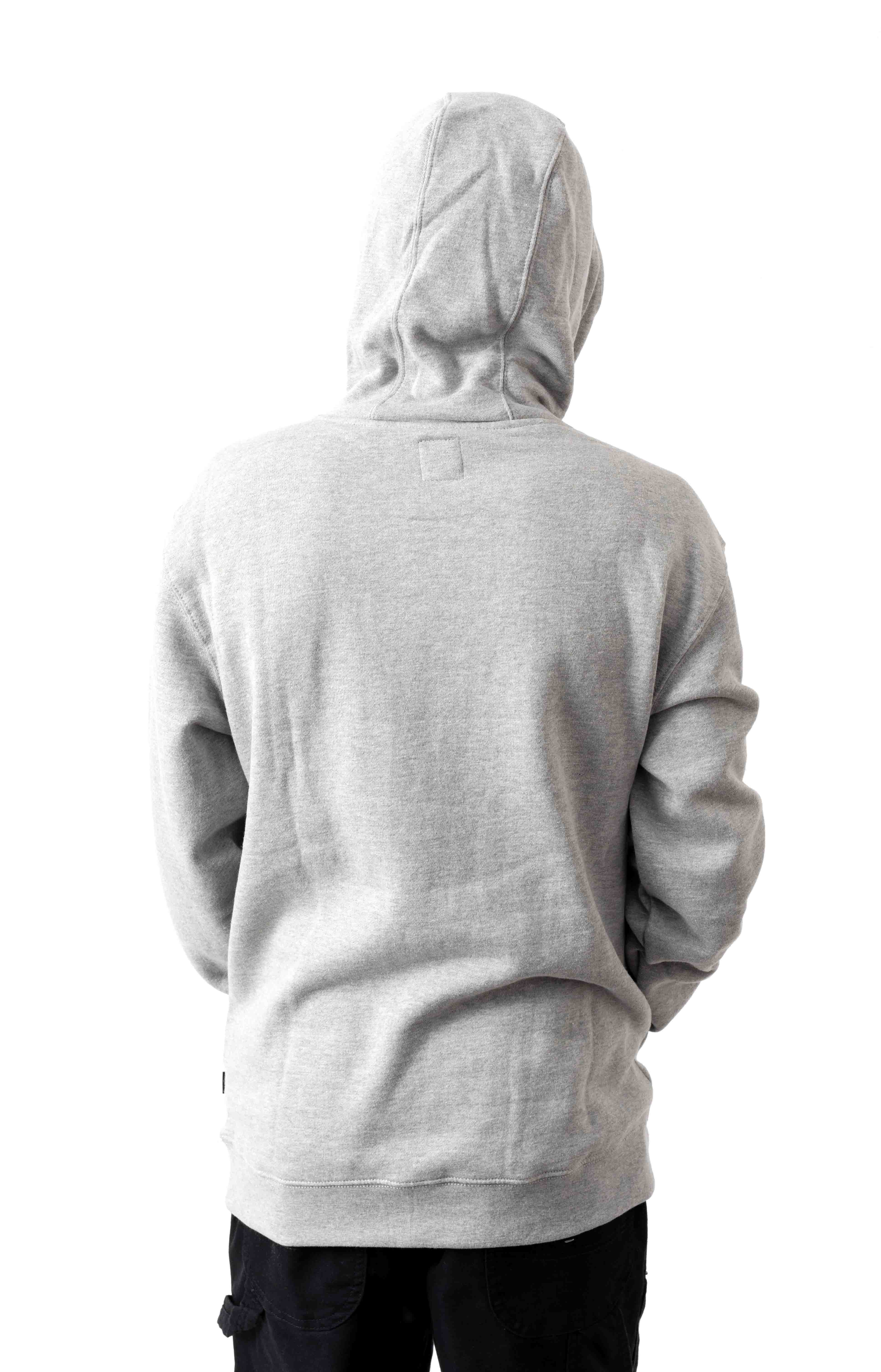 Vans Classic Pullover Hoodie - Cement Heather/Black 3