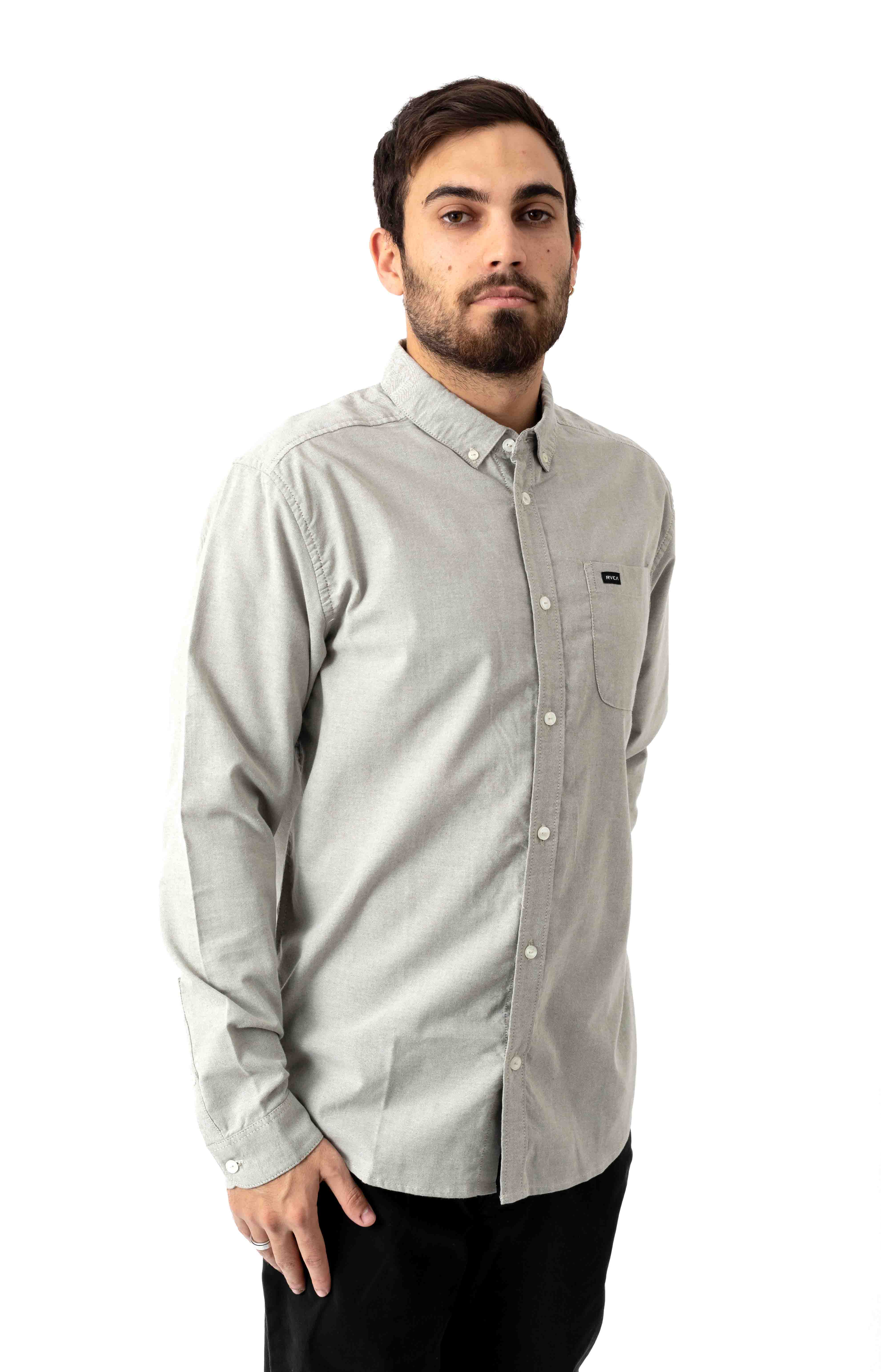 That'll Do Stretch Button-Up Shirt - Olive 2