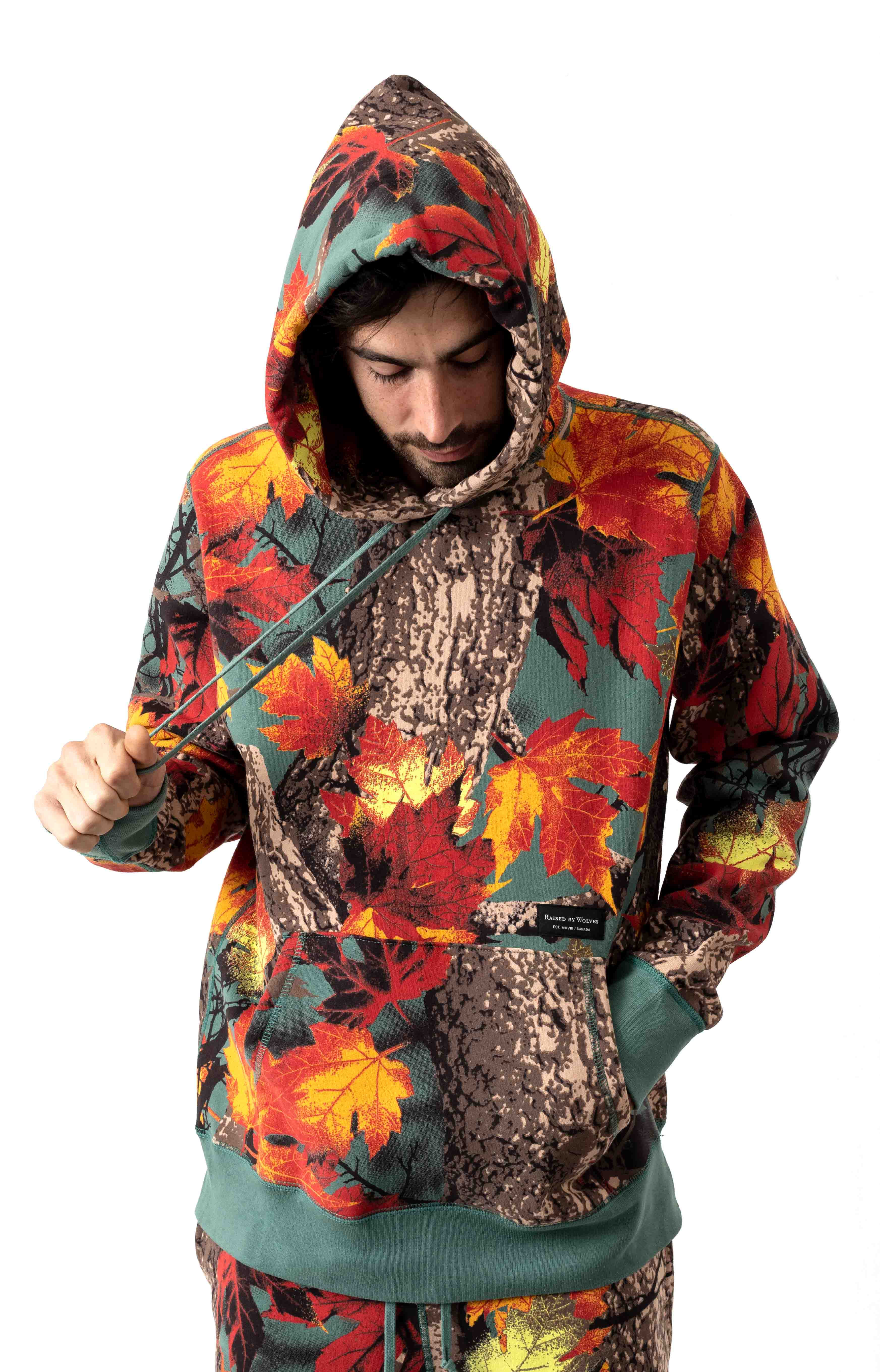 Maple Camo Pullover Hoodie - AOP Moss