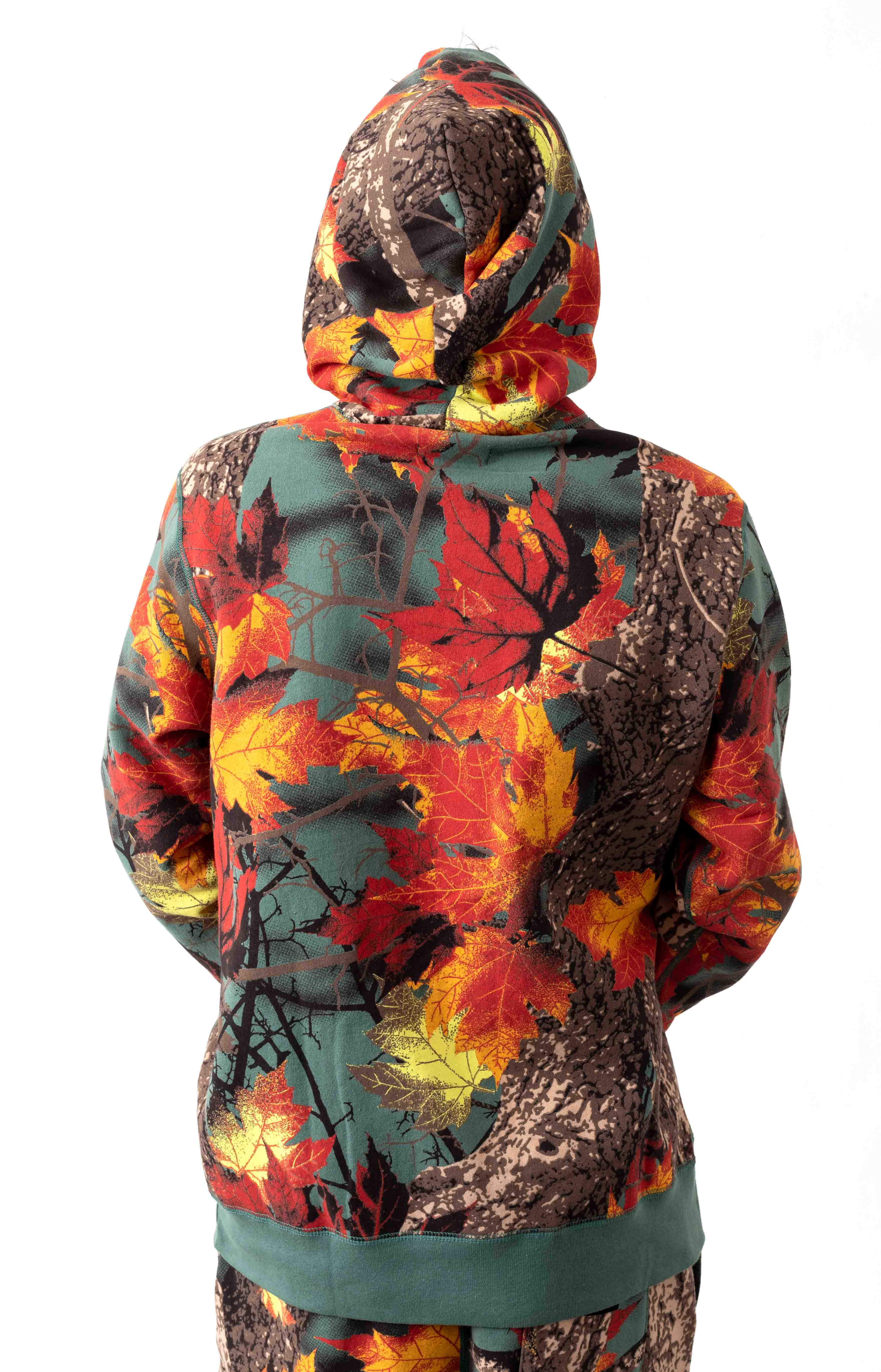 Maple Camo Pullover Hoodie - AOP Moss  3