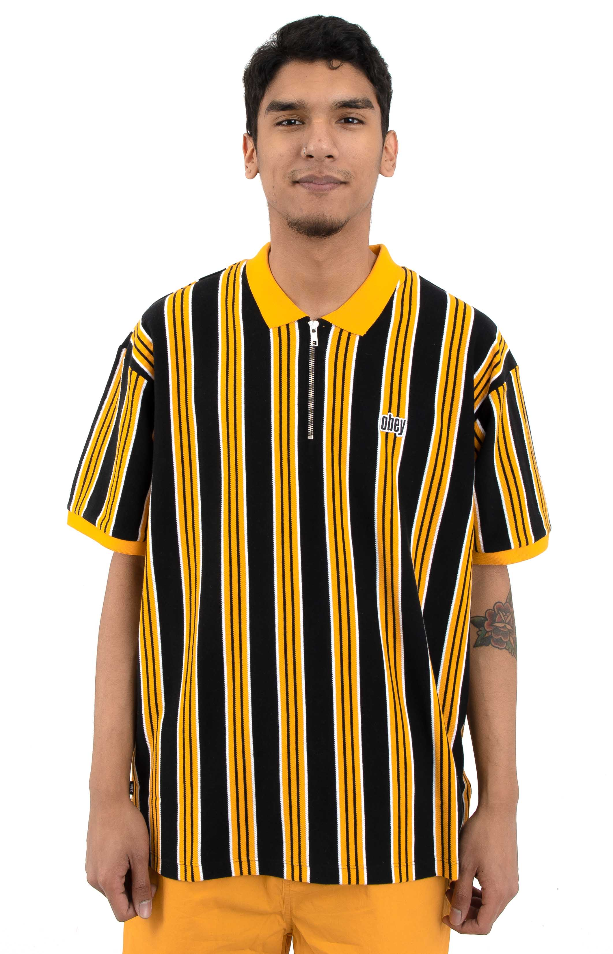 Radar Classic Zip Polo - Yellow Multi