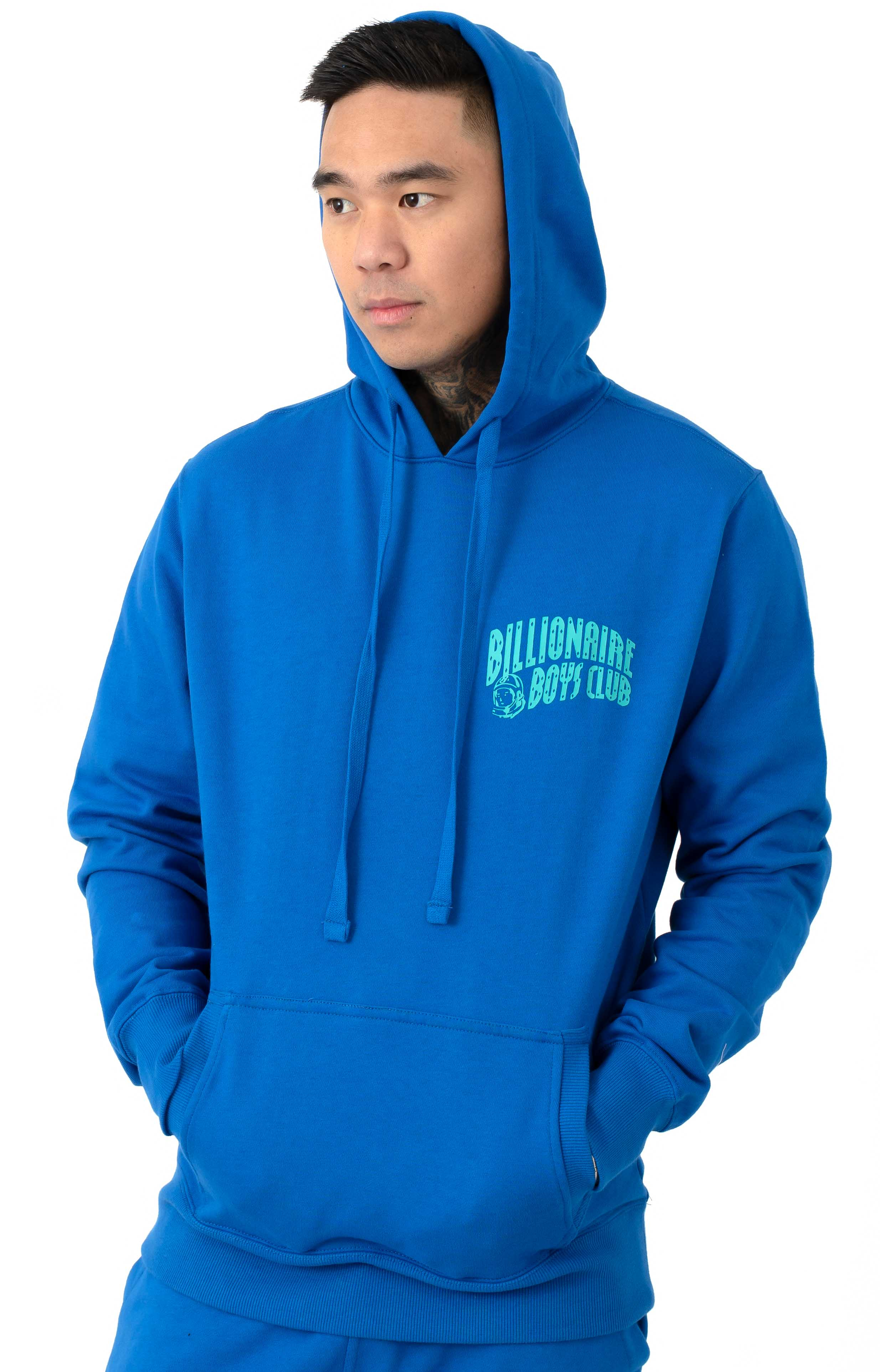 BB Arch Pullover Hoodie - Lapis Blue