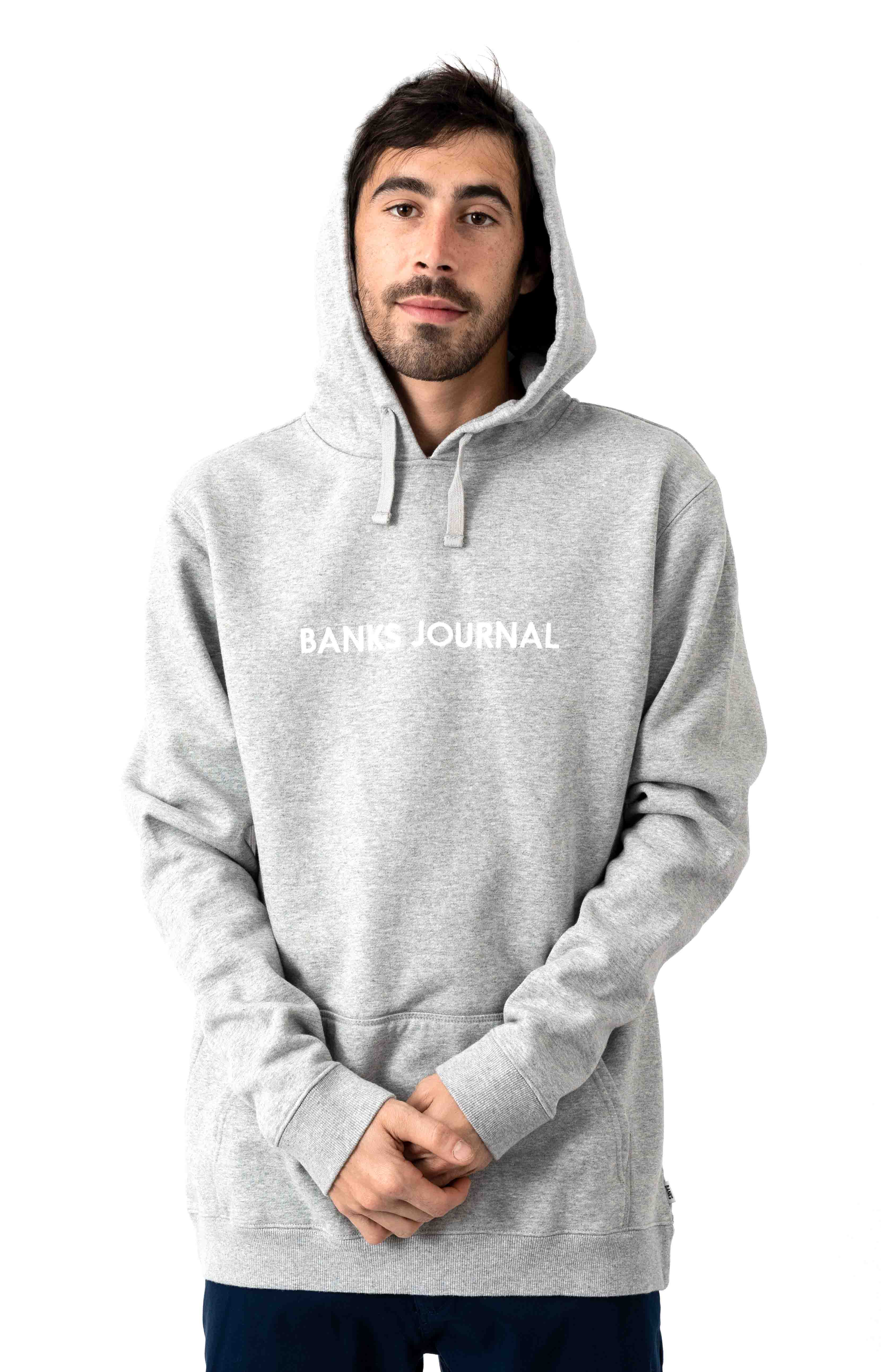 Label Pullover Hoodie - Heather Grey