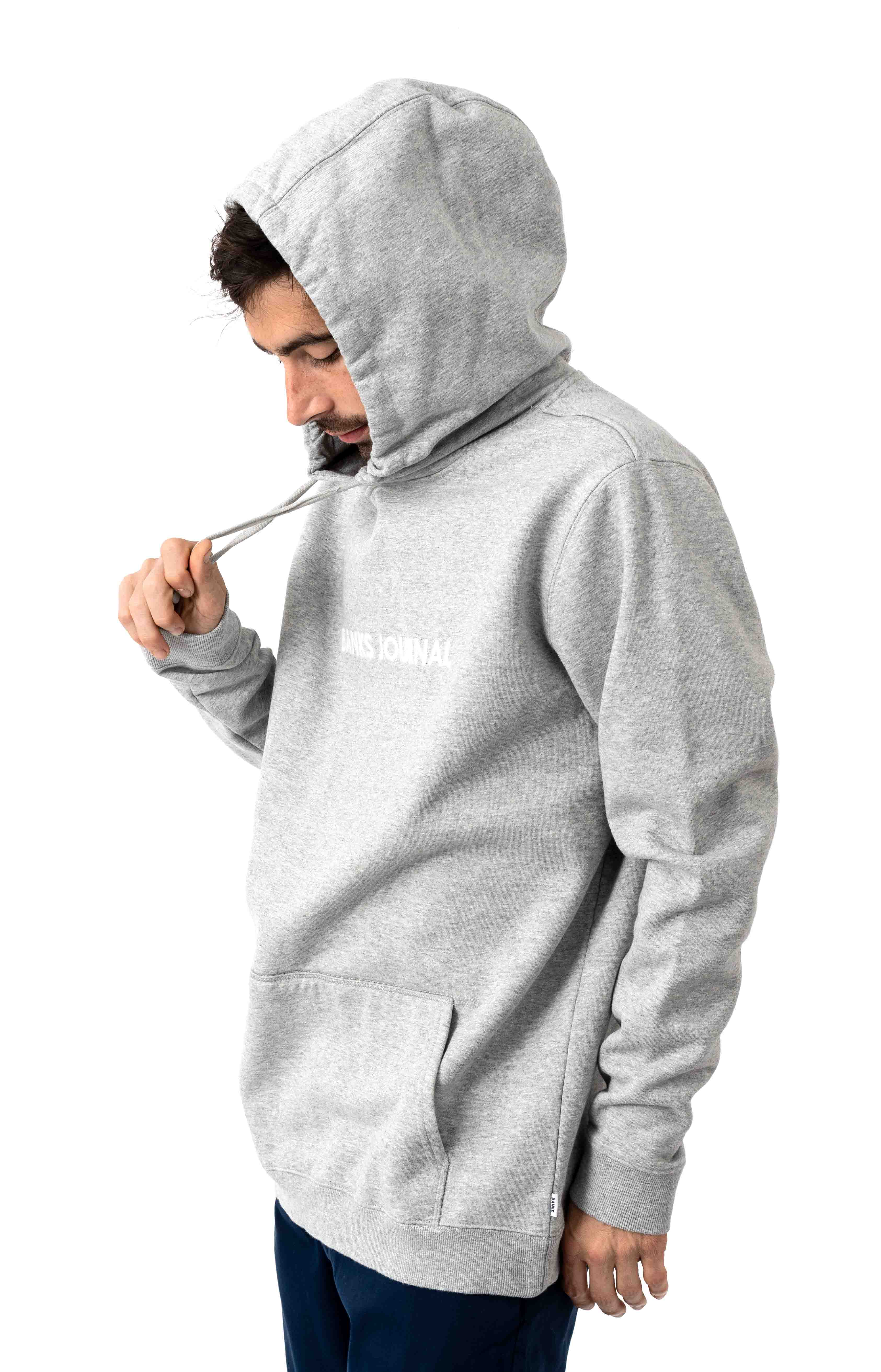 Label Pullover Hoodie - Heather Grey 2