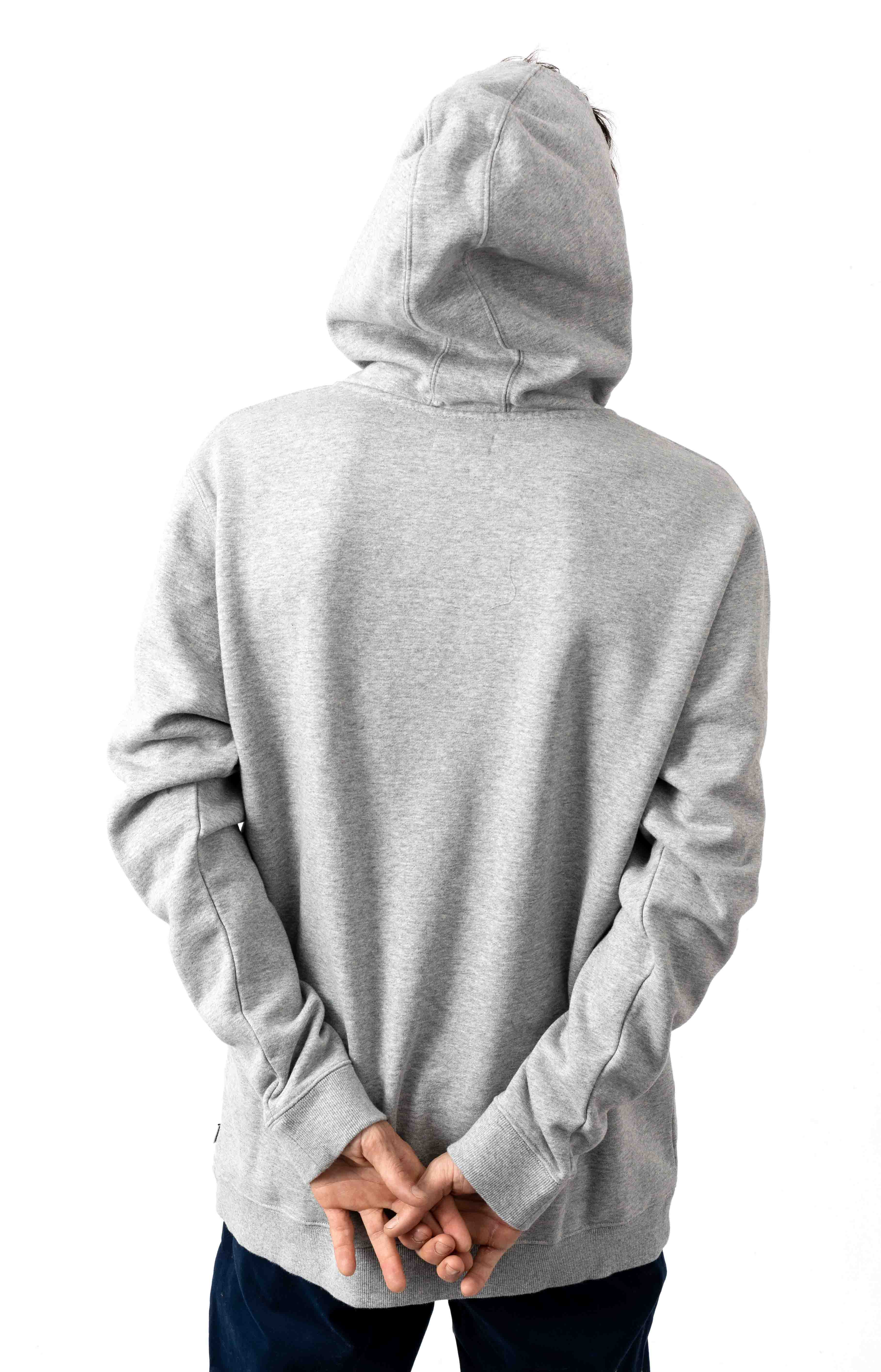 Label Pullover Hoodie - Heather Grey 3