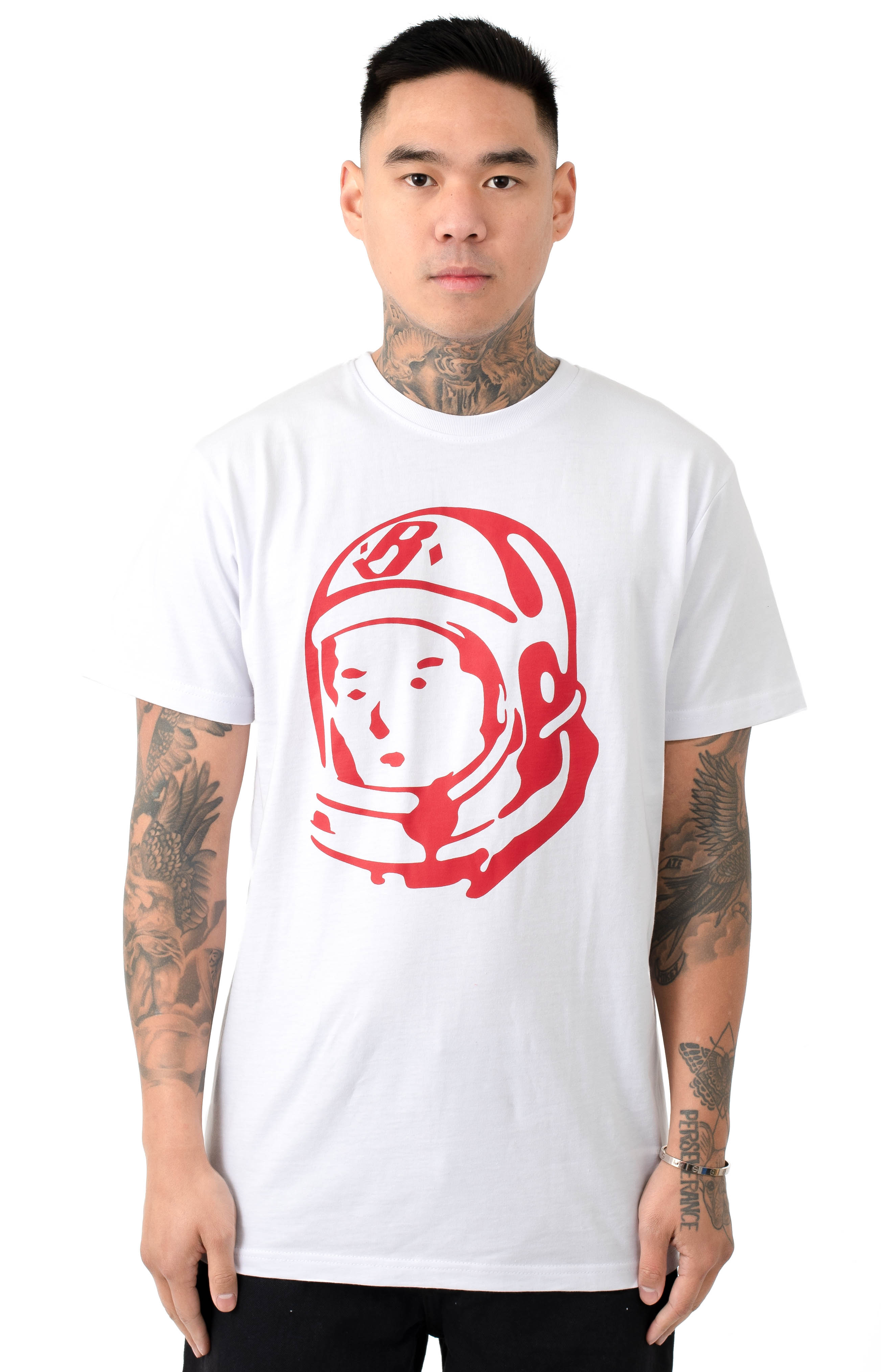 BB  Rider Helmet T-Shirt - White