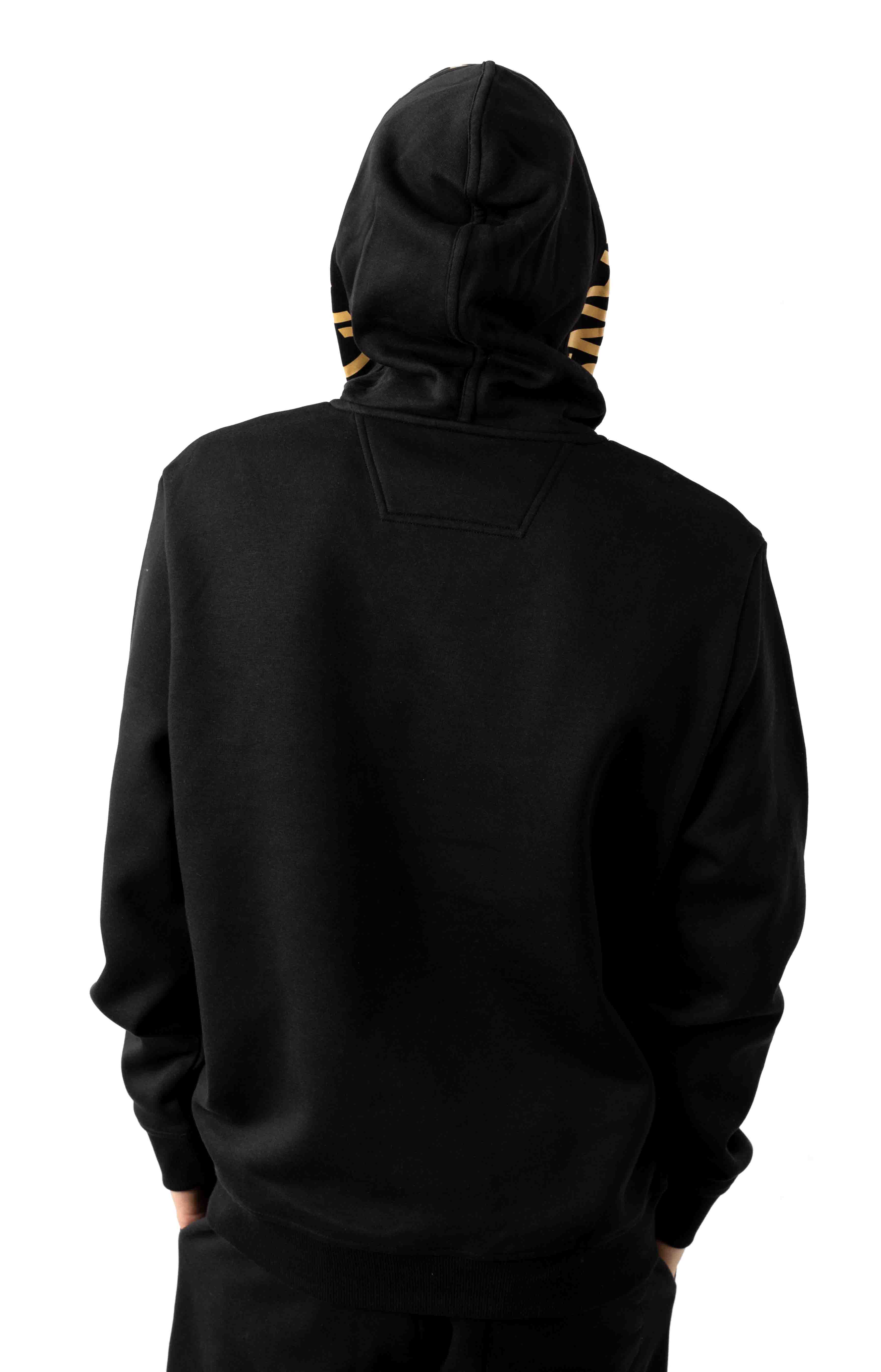 Regular Fit Iconic Logo Graphic Pullover Hoodie - Black 3