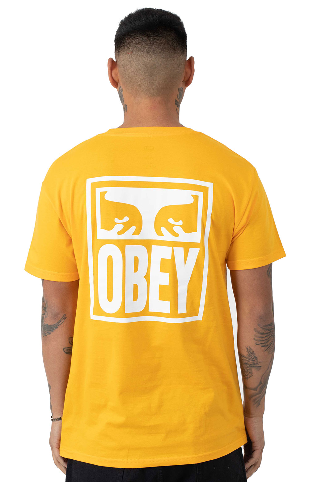 Obey Eyes Icon T-Shirt - Gold