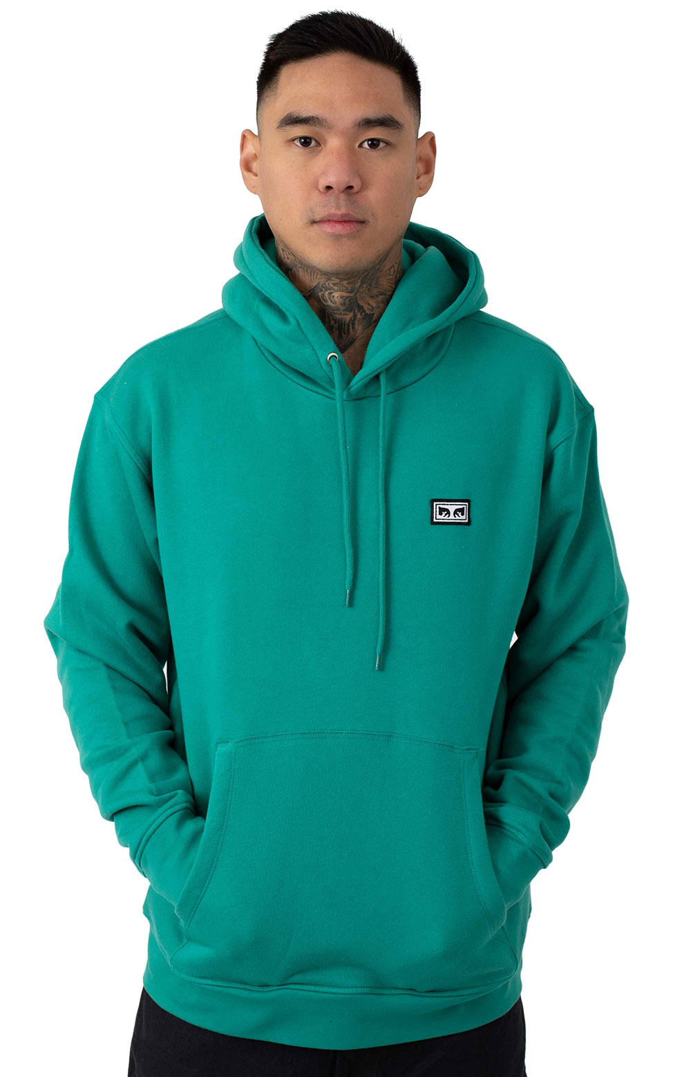 All Eyes Pullover Hoodie - Blue Green