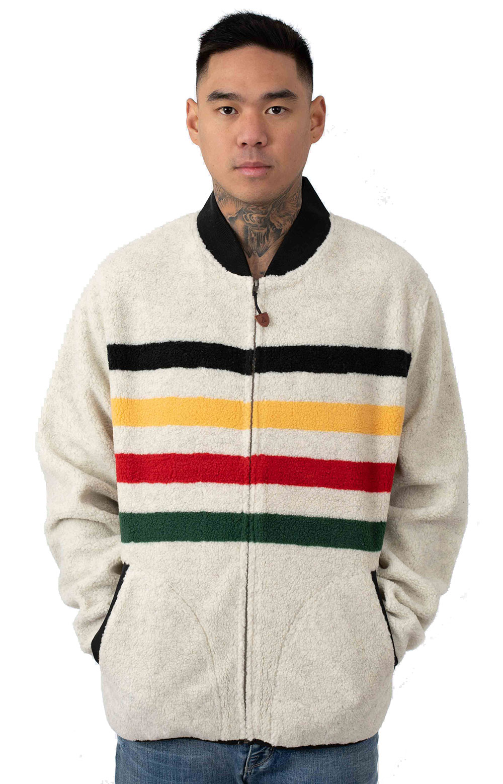 Glacier Stripe Fleece Jacket - Glacier Stripe