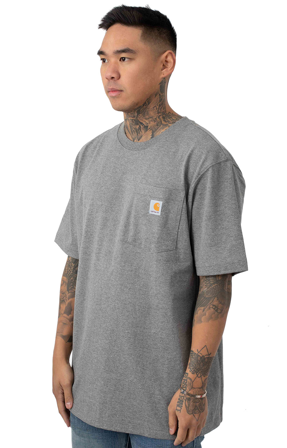 650a2eb2a6 ... Workwear C Logo Graphic Pocket T-Shirt - Granite Heather. Thumbnail 1  Thumbnail 1 Thumbnail 1
