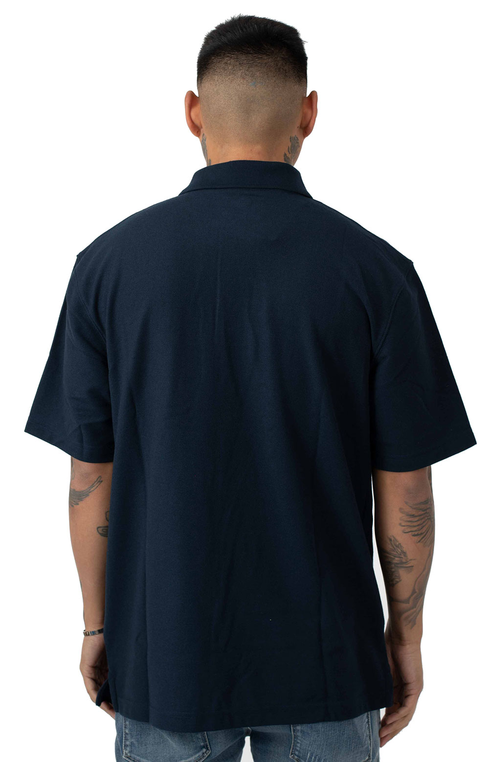 (K570) Contractor's Work Pocket Polo - Navy 3