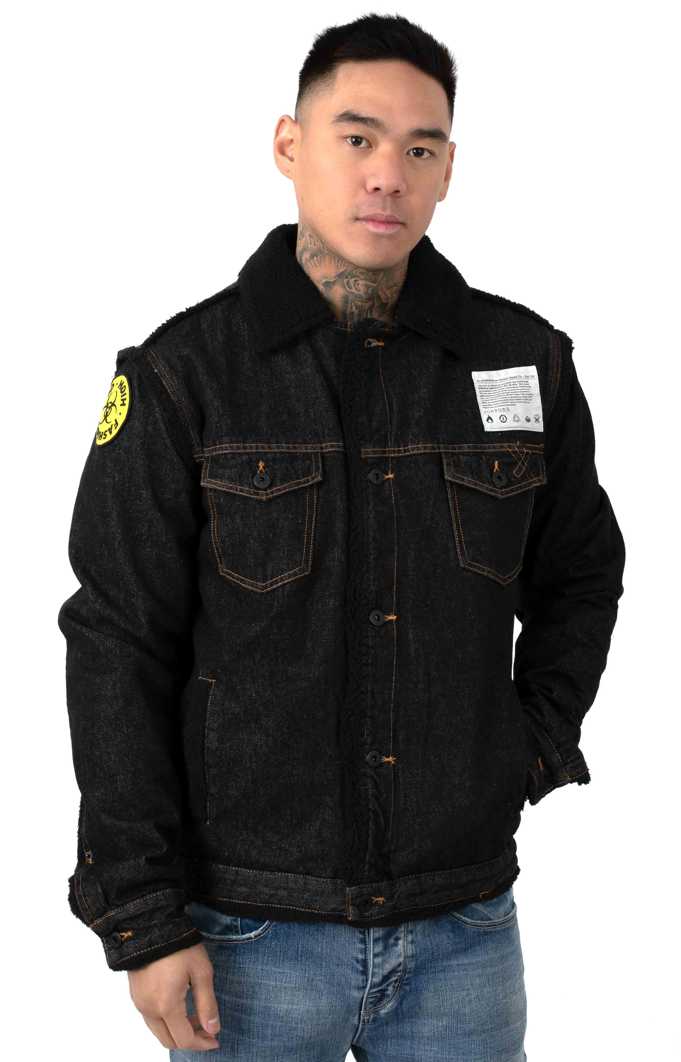 Damage Control Denim Jacket - Black