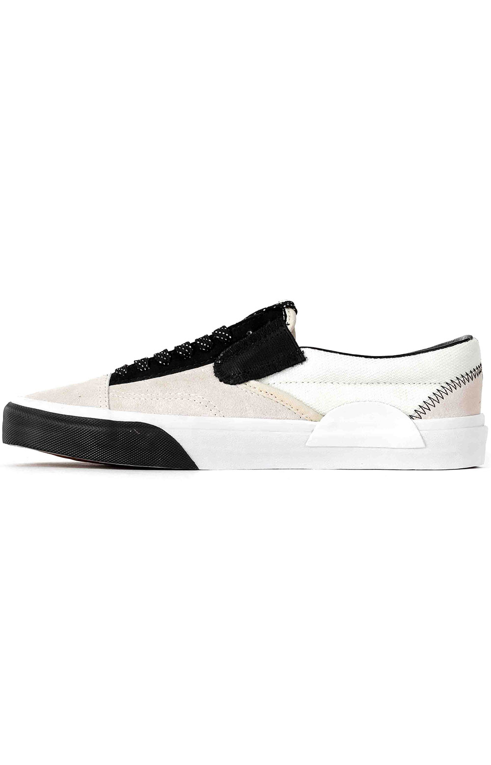 (WM5TUU) Reflective Classic Slip-On Cap Shoe - White  4
