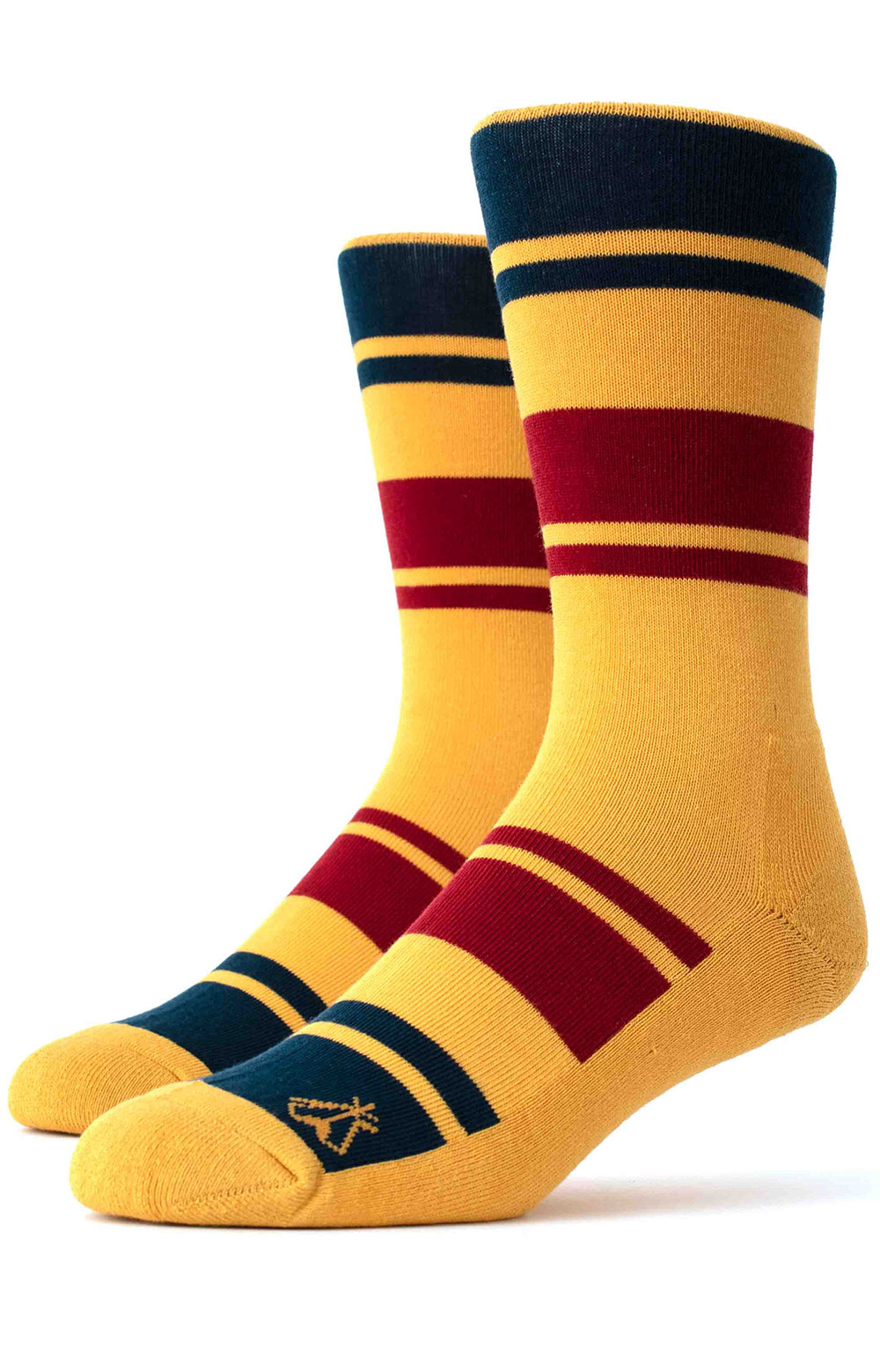 Yellowstone Crew Sock - Stripe Yellow