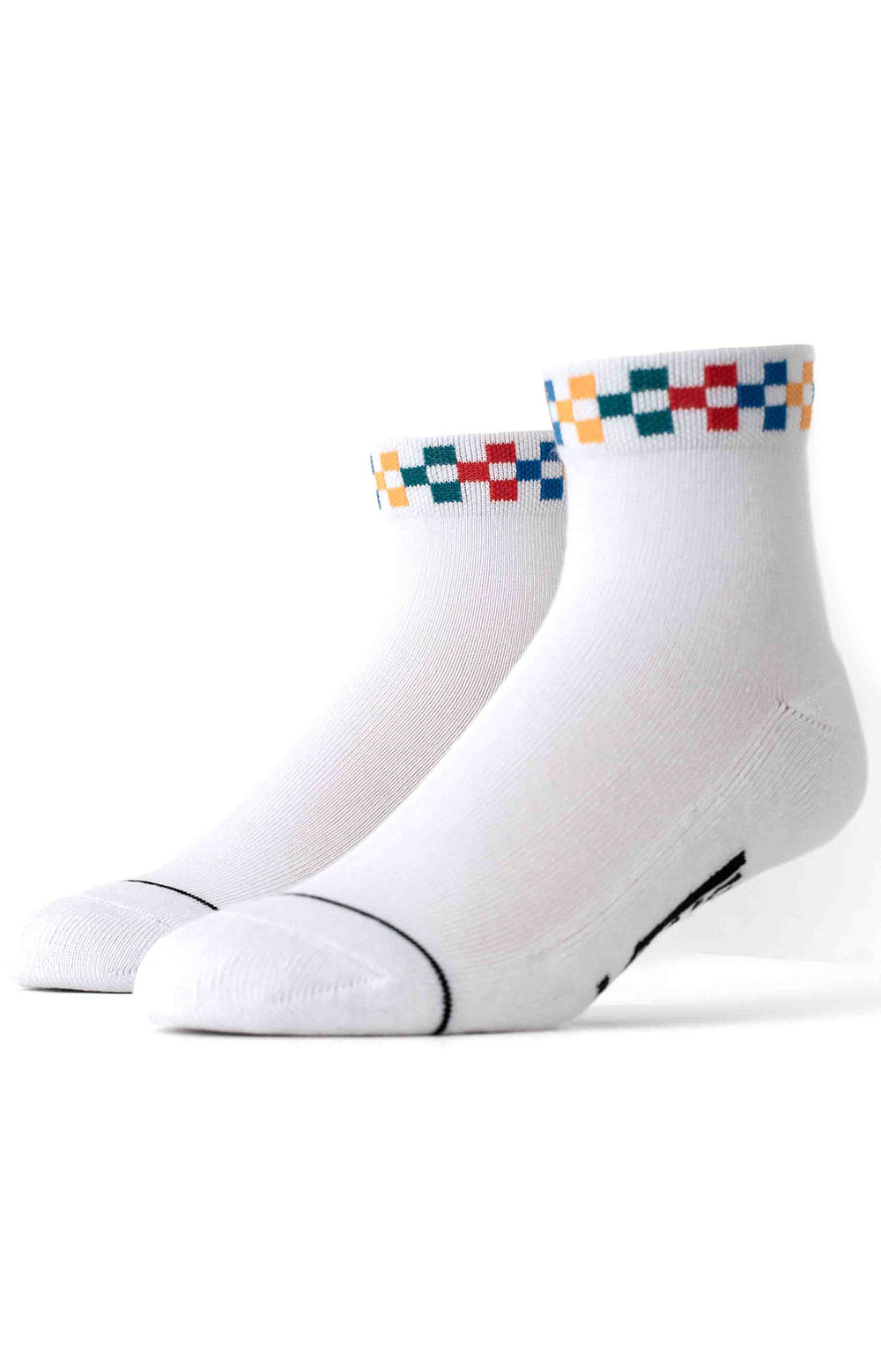 Peek A Check Socks - White