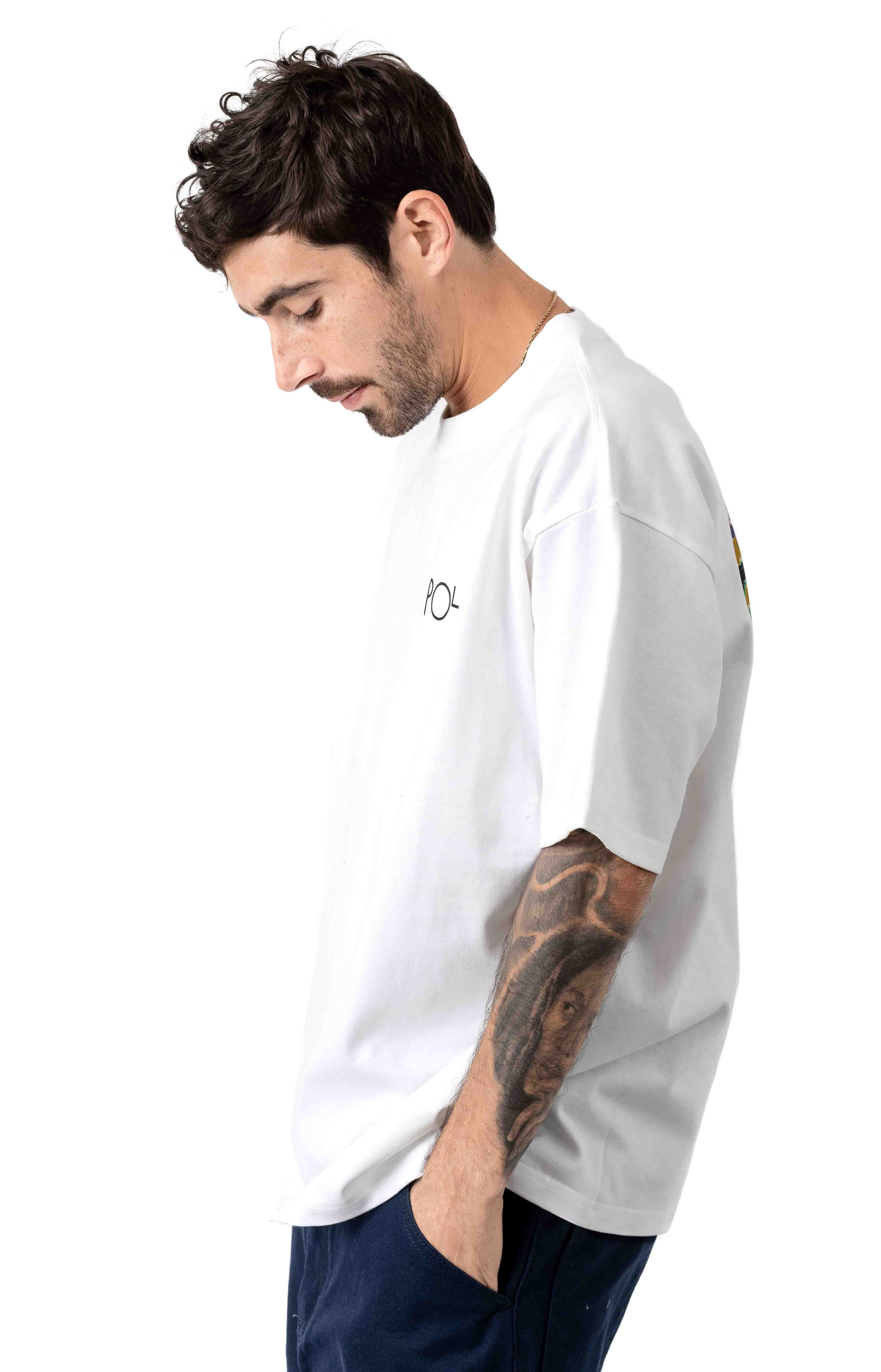 Garden Fill Logo T-Shirt - White  3