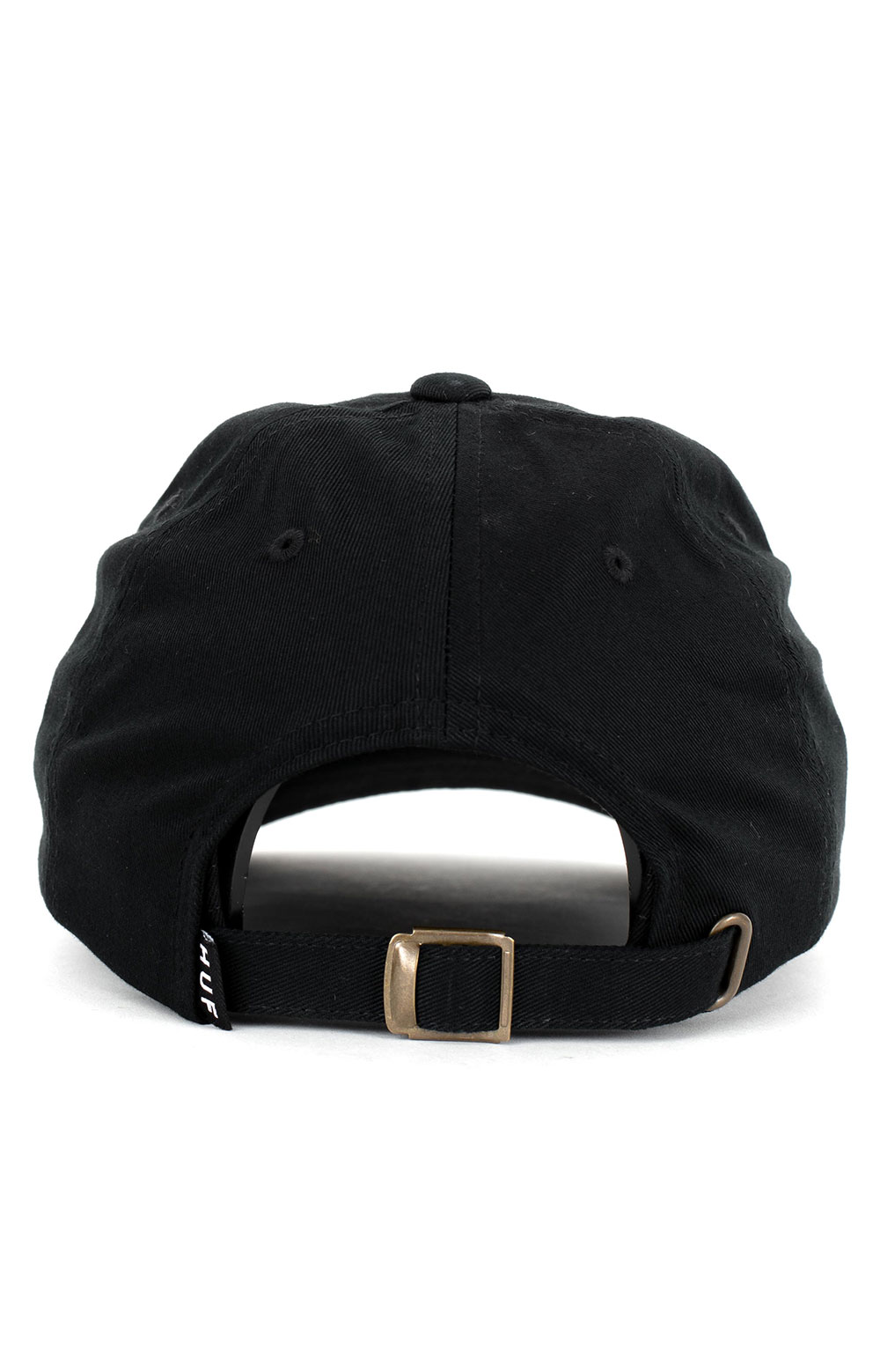 Huf. Essentials OG CV 6 Panel Hat - Black 3