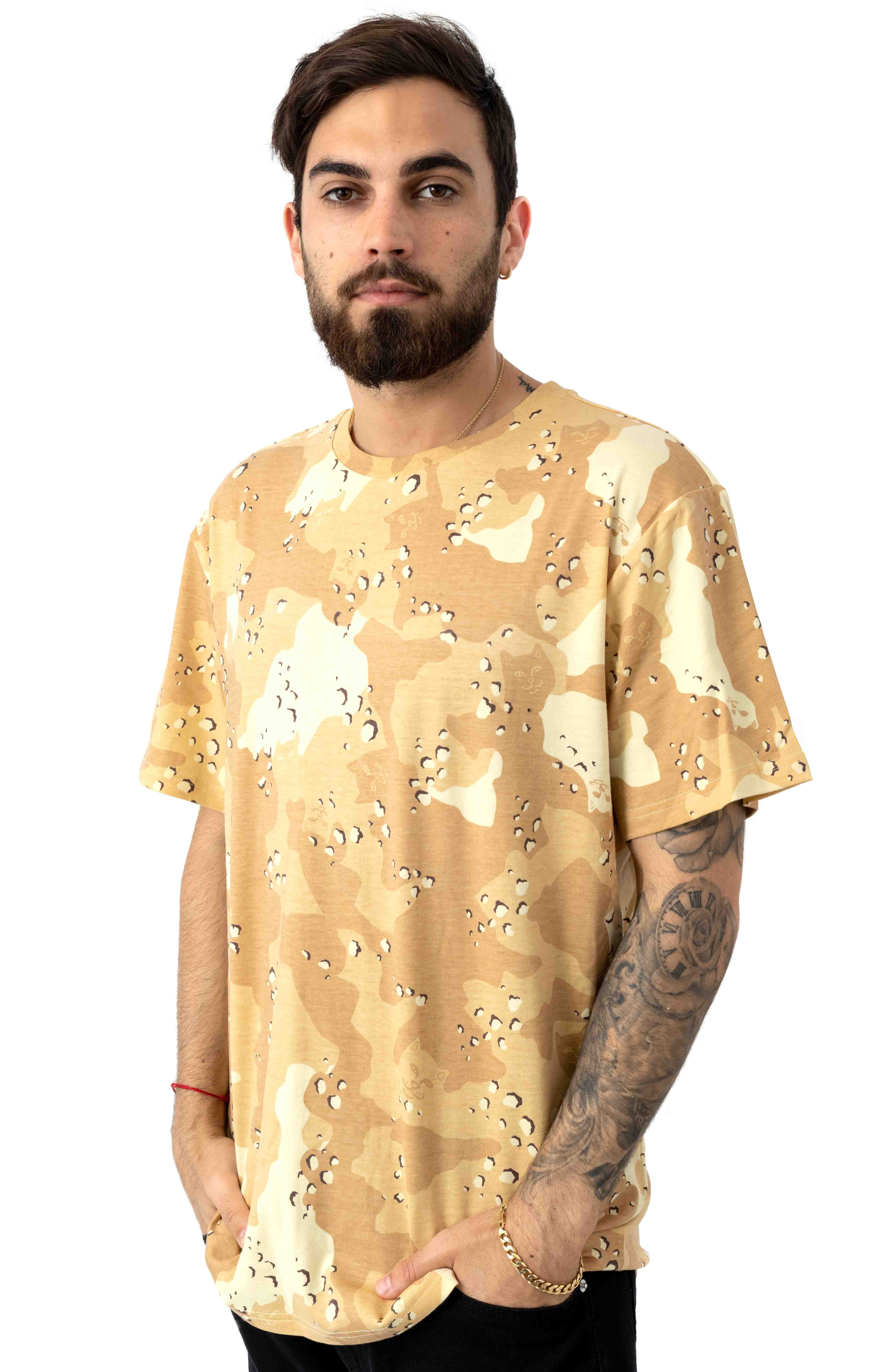 Nerm Camo All Over T-Shirt - Choc Chip Camo