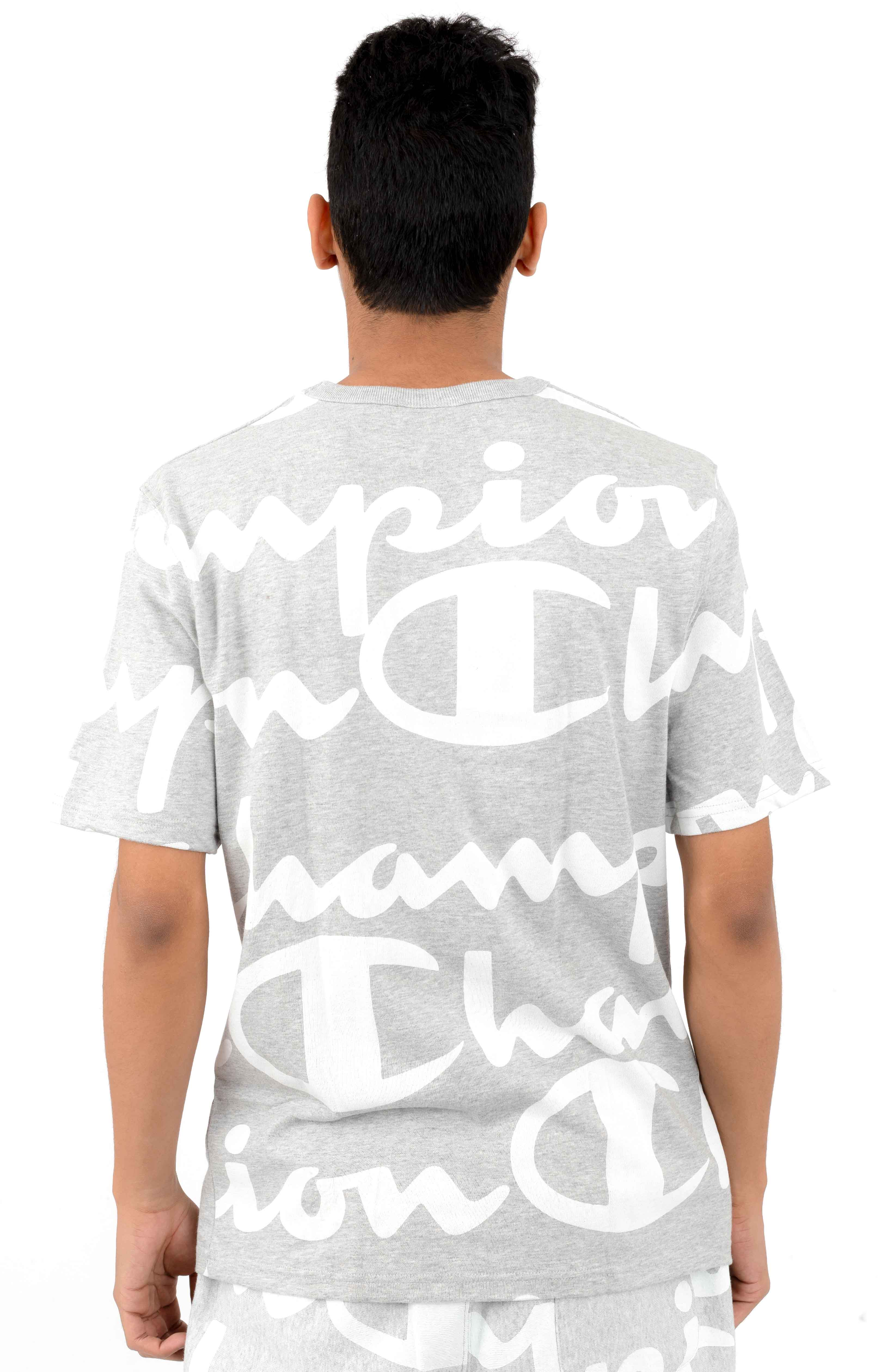 5cce55ad Heritage Giant All Over Script T-Shirt - Oxford Grey. Thumbnail 1 Thumbnail  1 Thumbnail 1