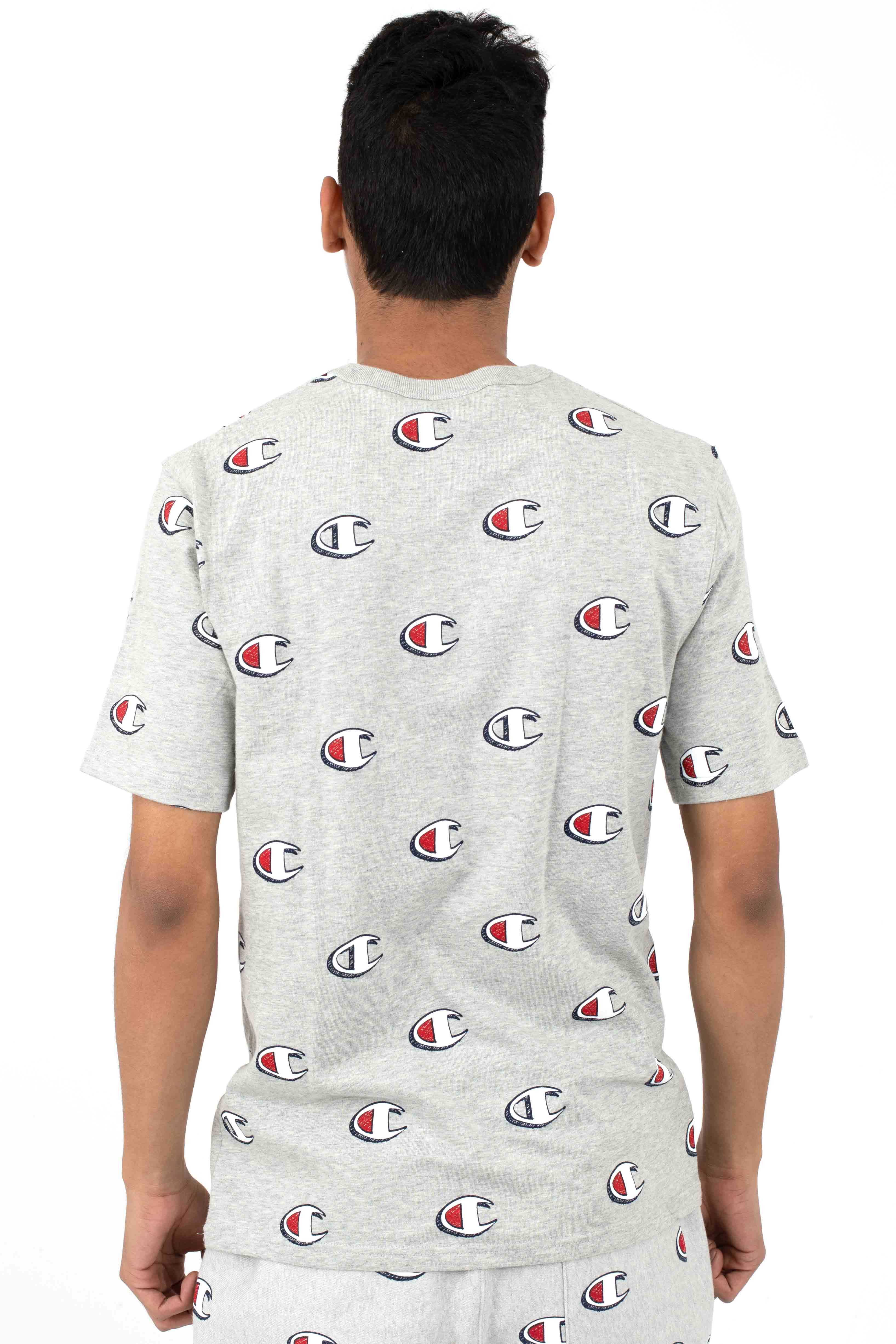 Heritage All Over Scribble Logo T-Shirt - Oxford Grey 3