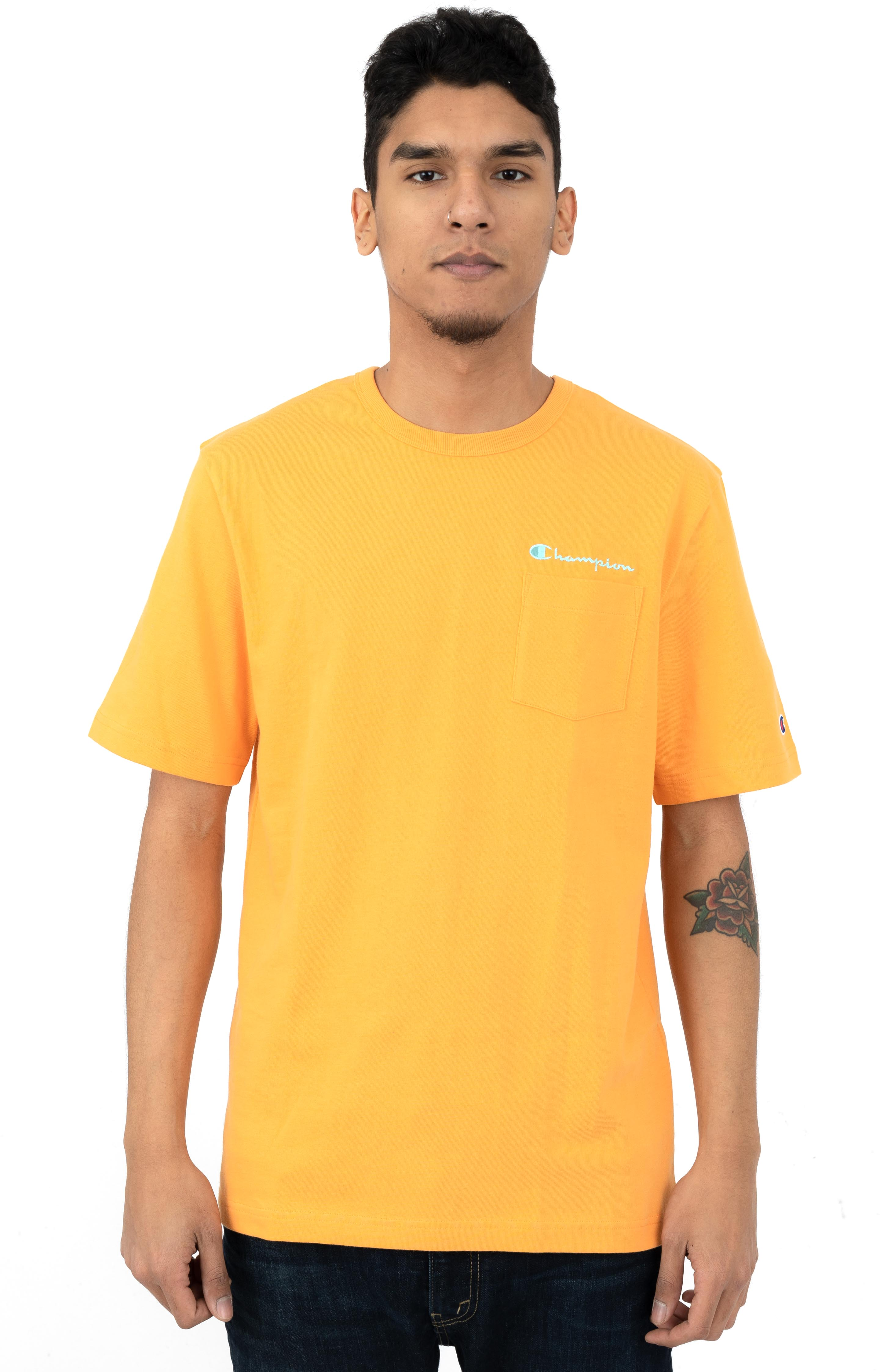 Heritage Pocket T-Shirt - Capri Orange
